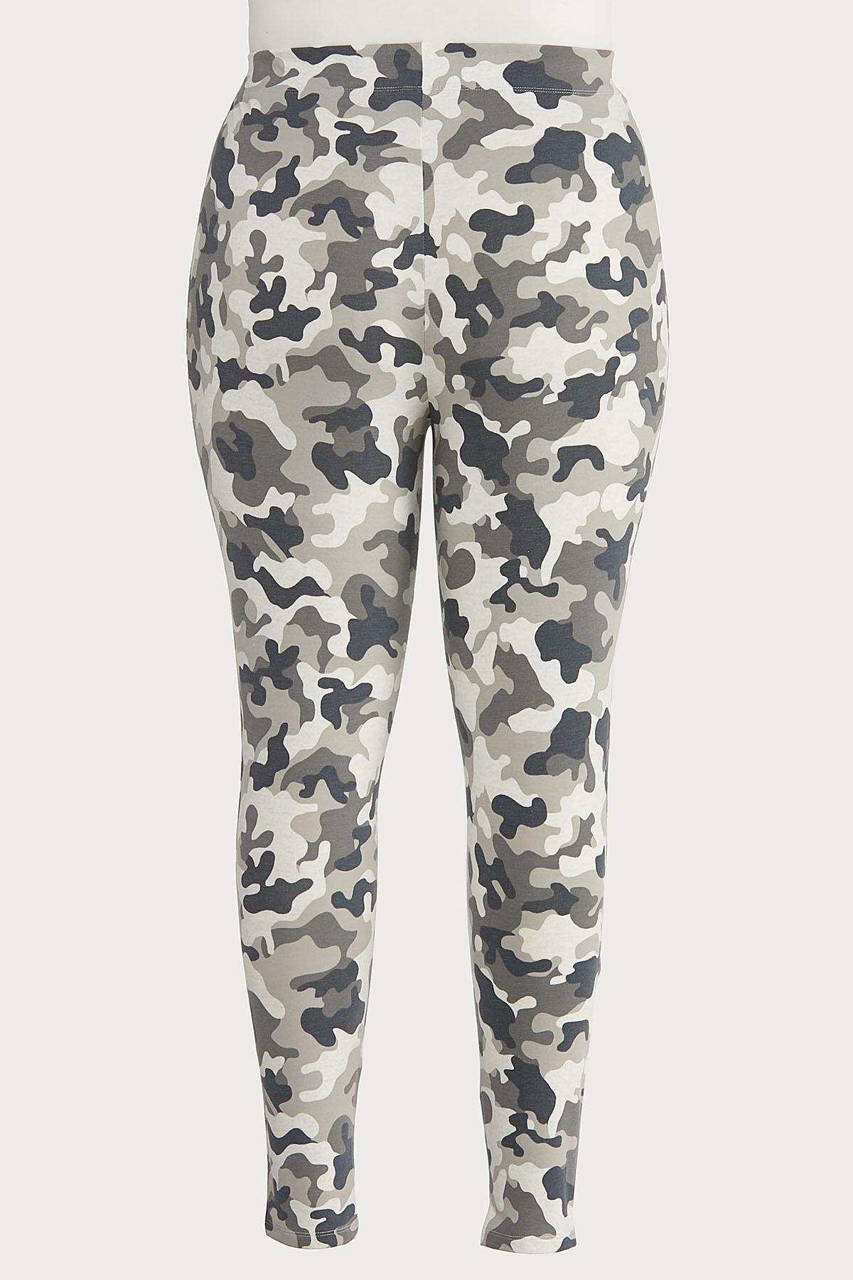Plus Size Gray Camo Leggings (Item #44657229)
