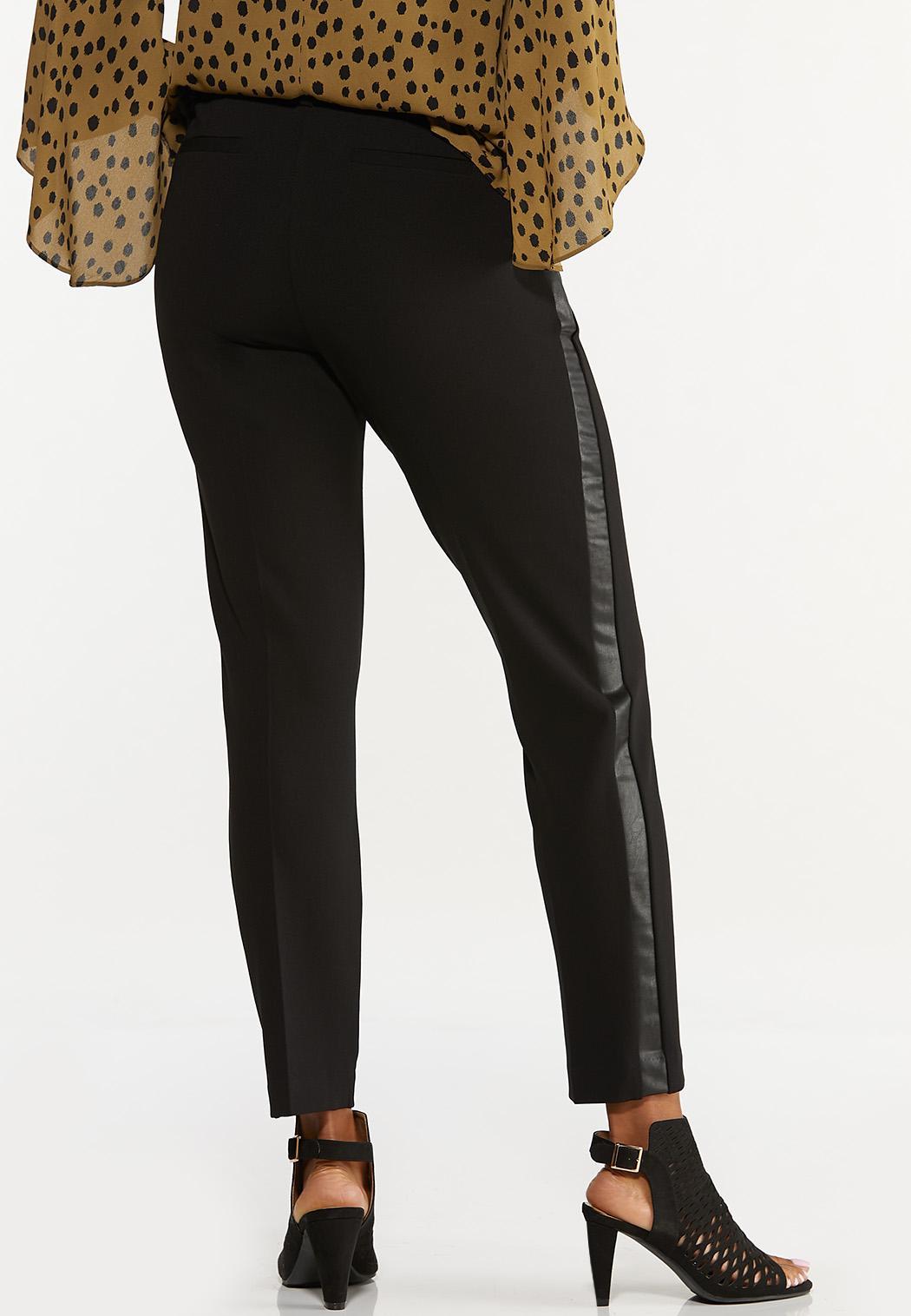 Faux Leather Panel Pants (Item #44657493)