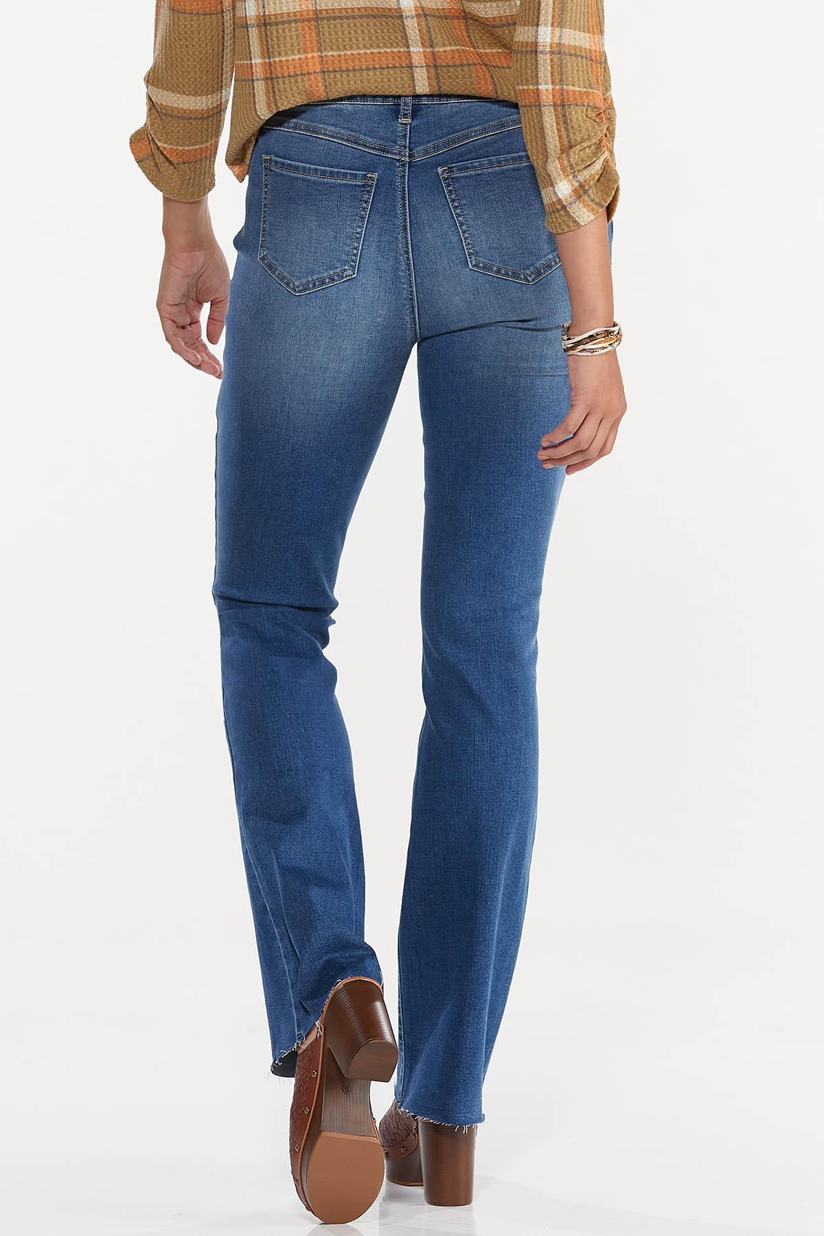 Petite Bootcut Raw Hem Jeans (Item #44658048)