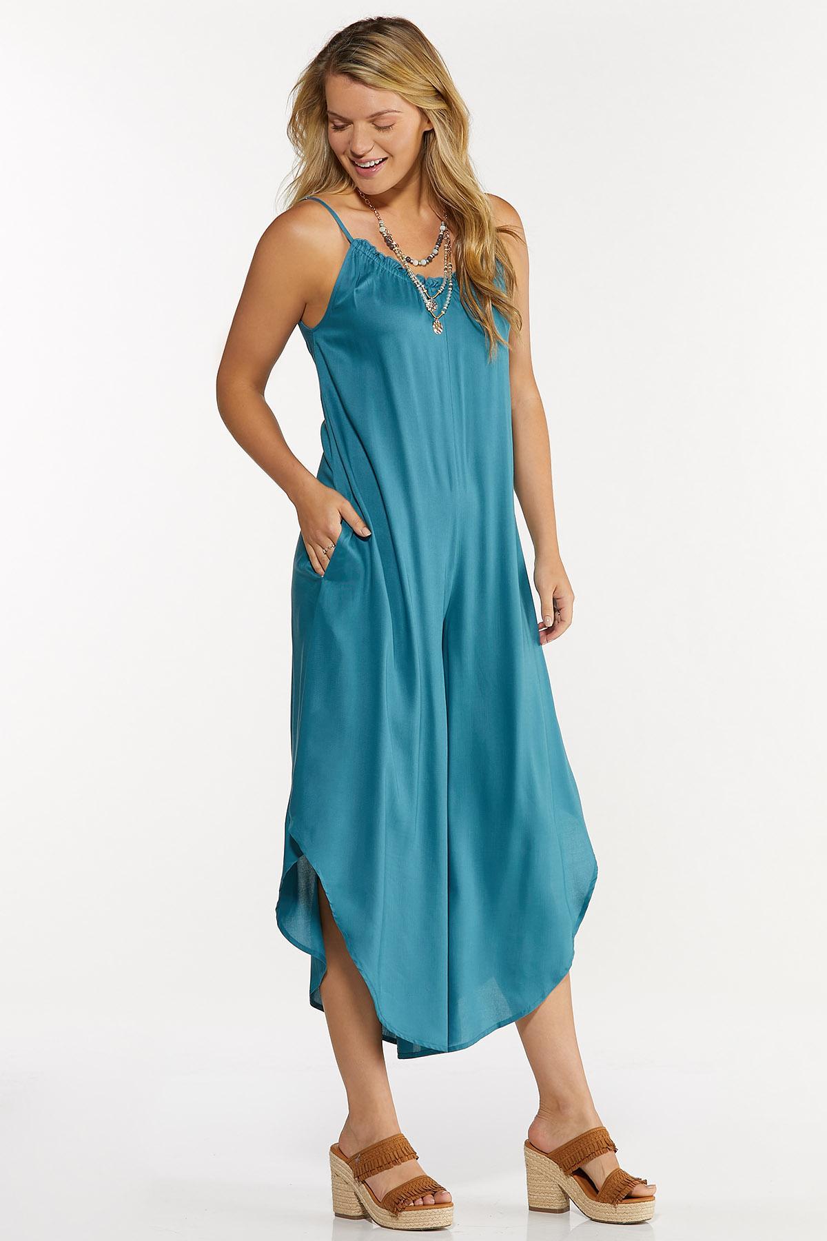 Plus Size Blue Genie Jumpsuit (Item #44658437)