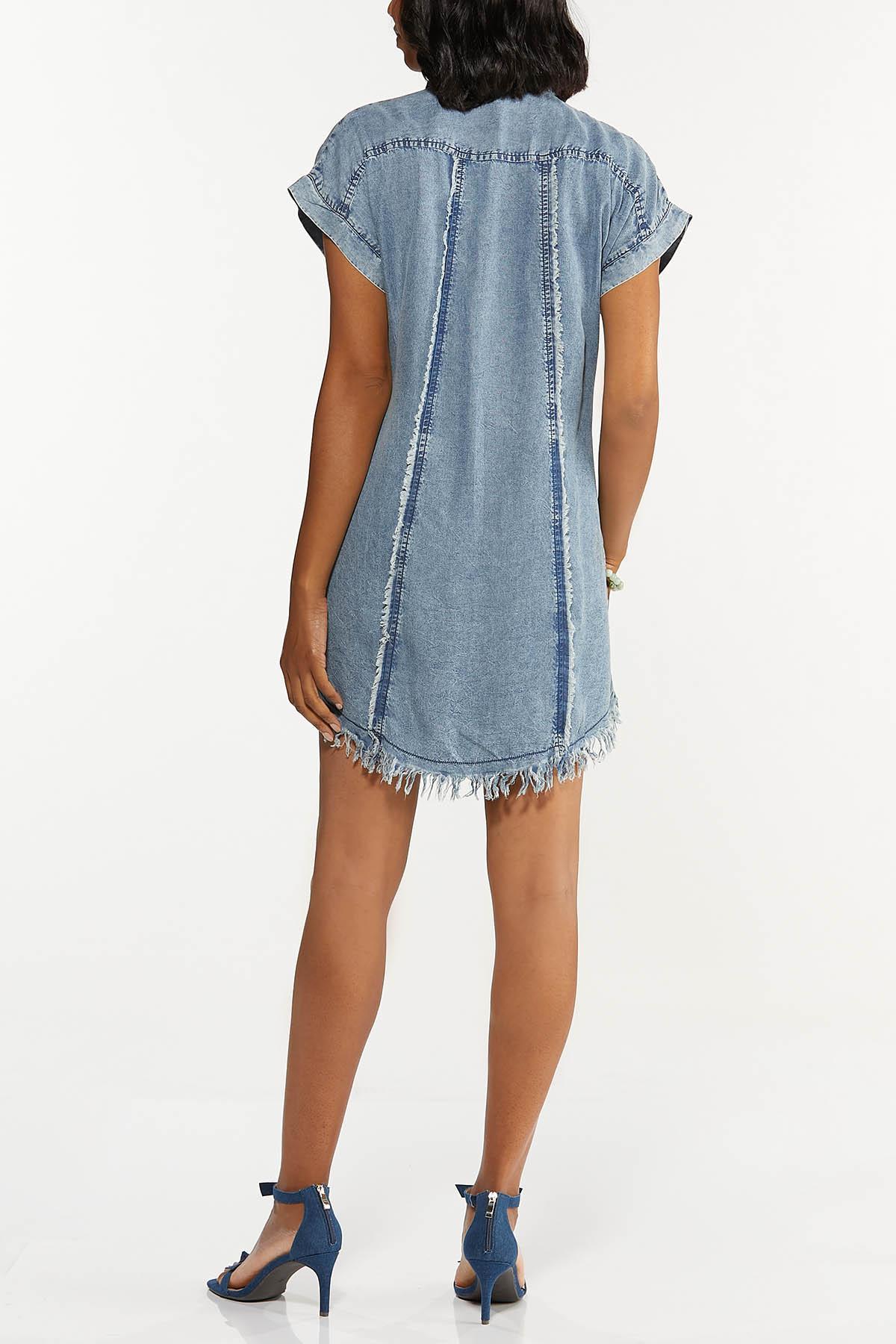 Frayed Chambray Dress (Item #44658727)