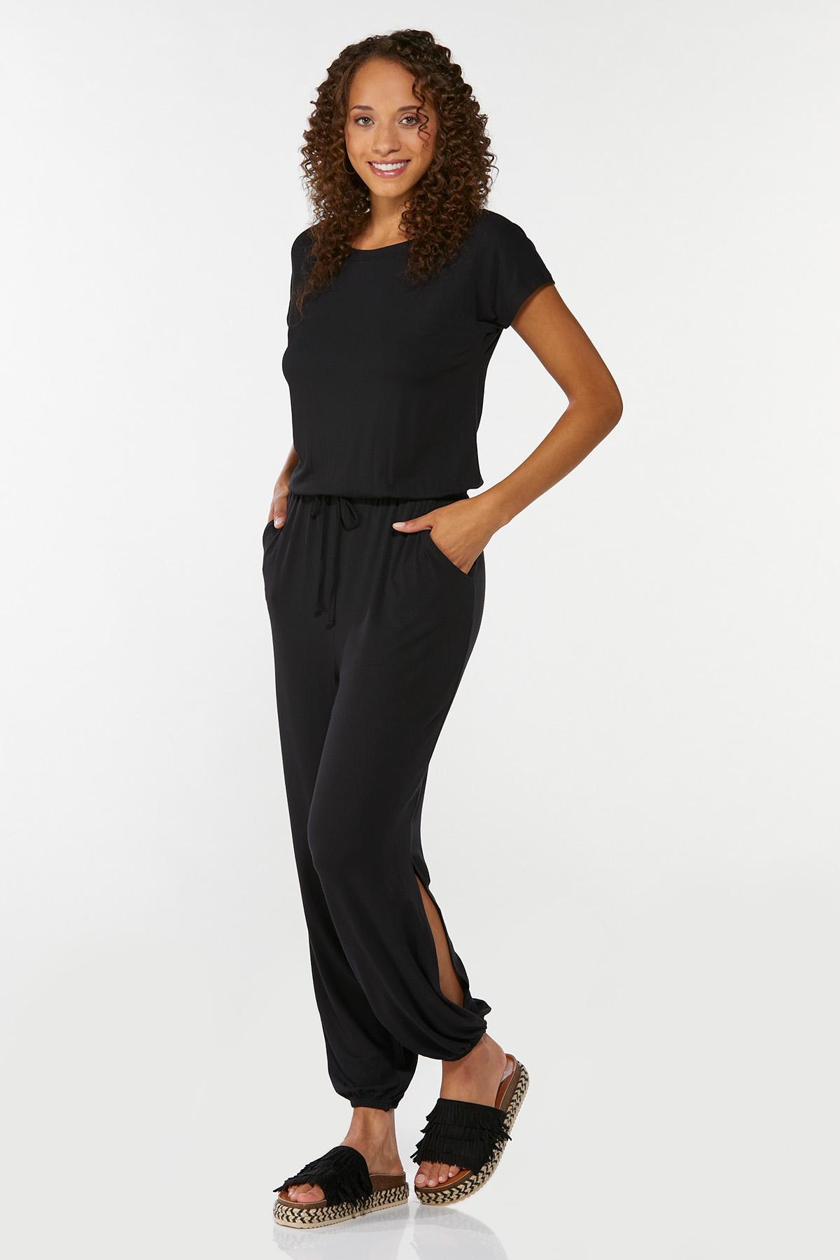 Plus Size Slit Leg Jumpsuit (Item #44658808)