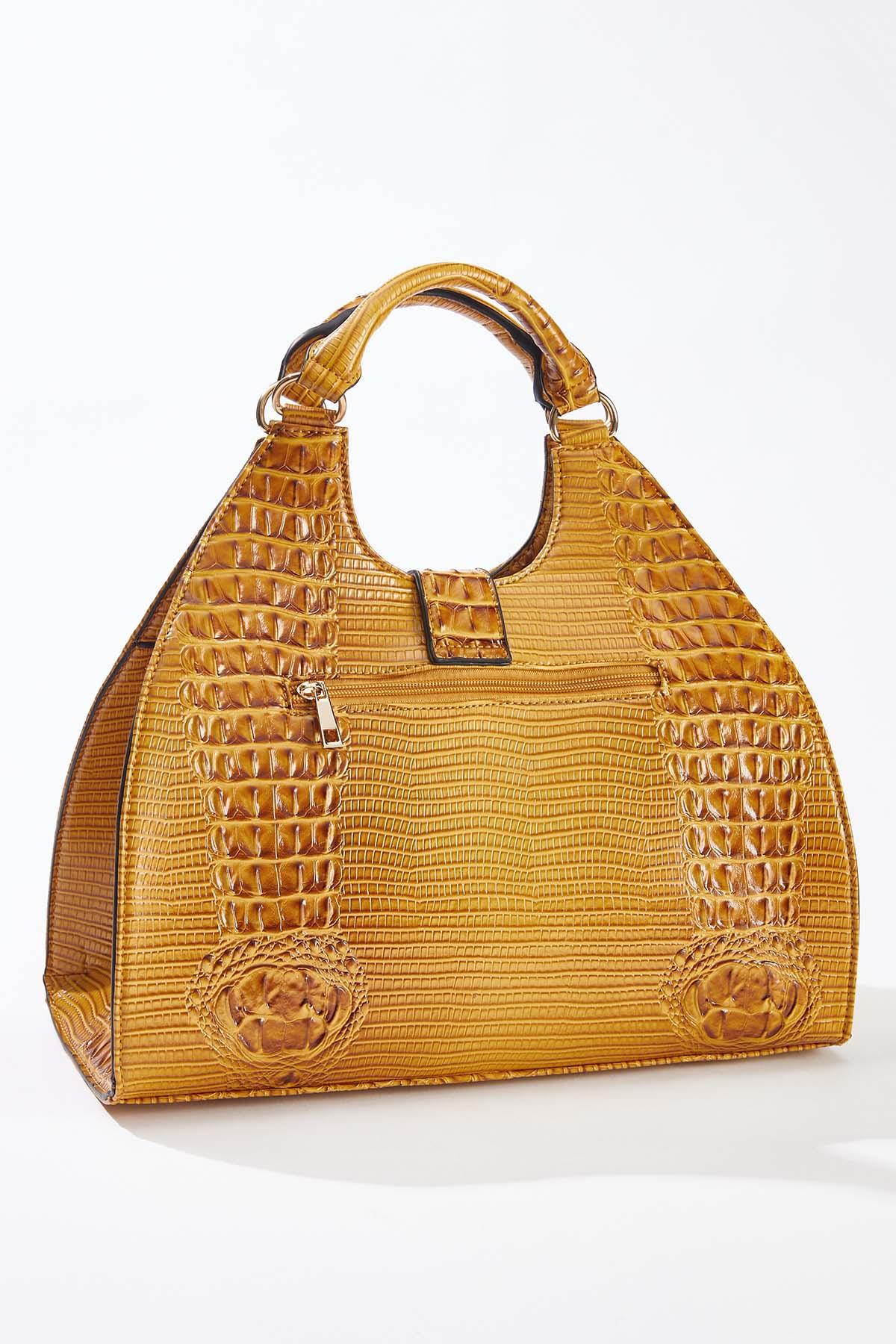 Golden Buckle Flap Satchel (Item #44658914)