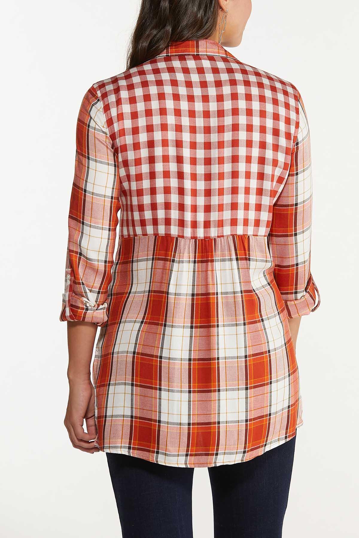 Plus Size Twin Plaid Tunic (Item #44659424)