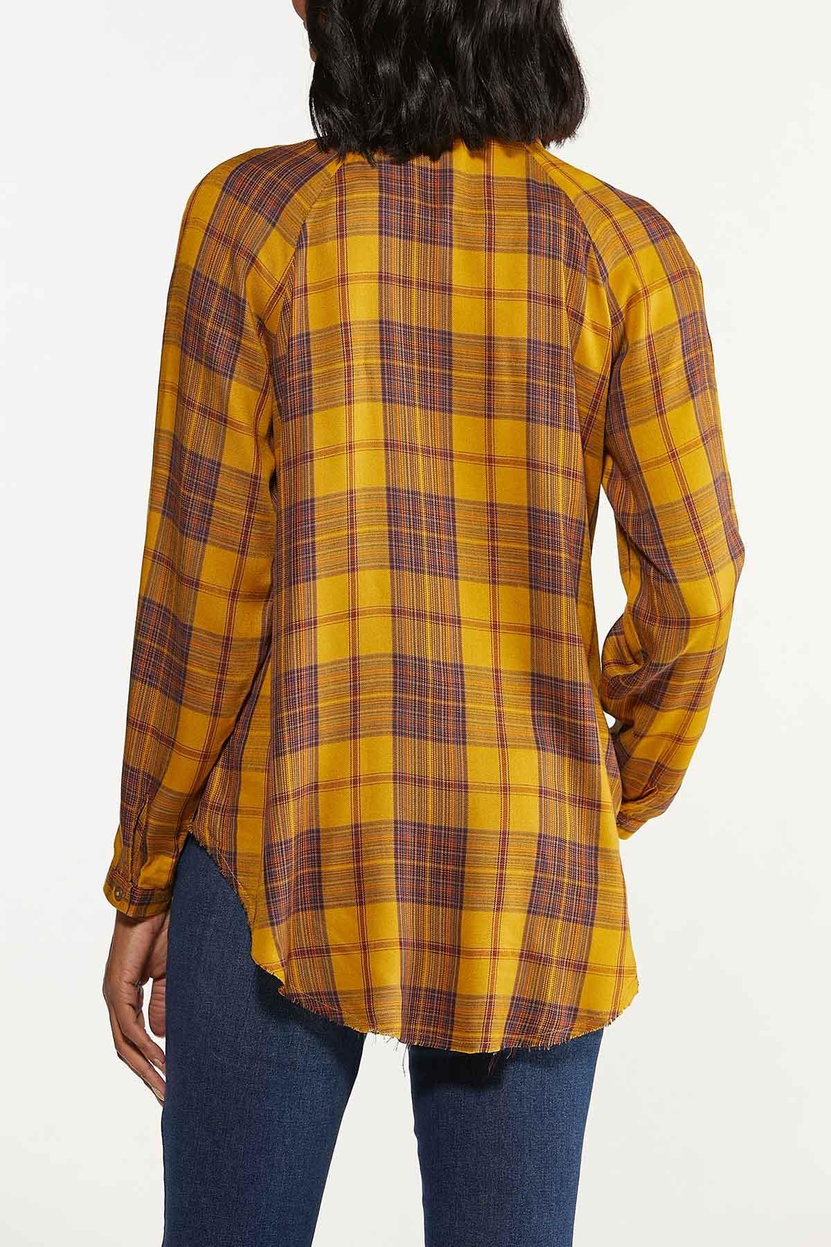 Plus Size Gold Plaid Tunic (Item #44659607)