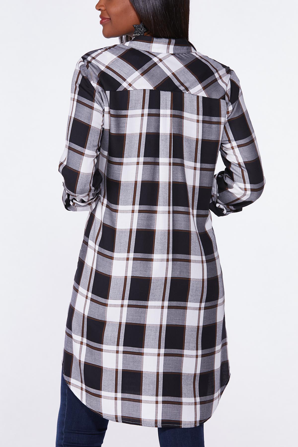 Plus Size Extreme Plaid Tunic (Item #44659884)