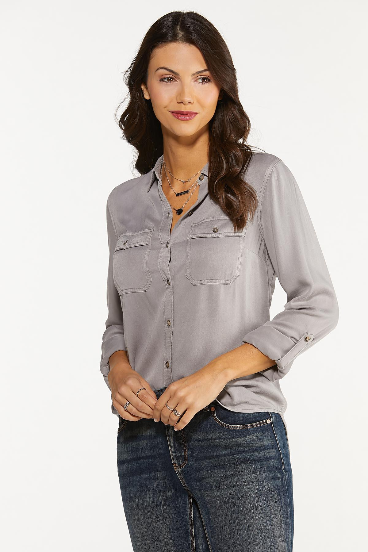 Faded Wash Button Down Shirt (Item #44660107)