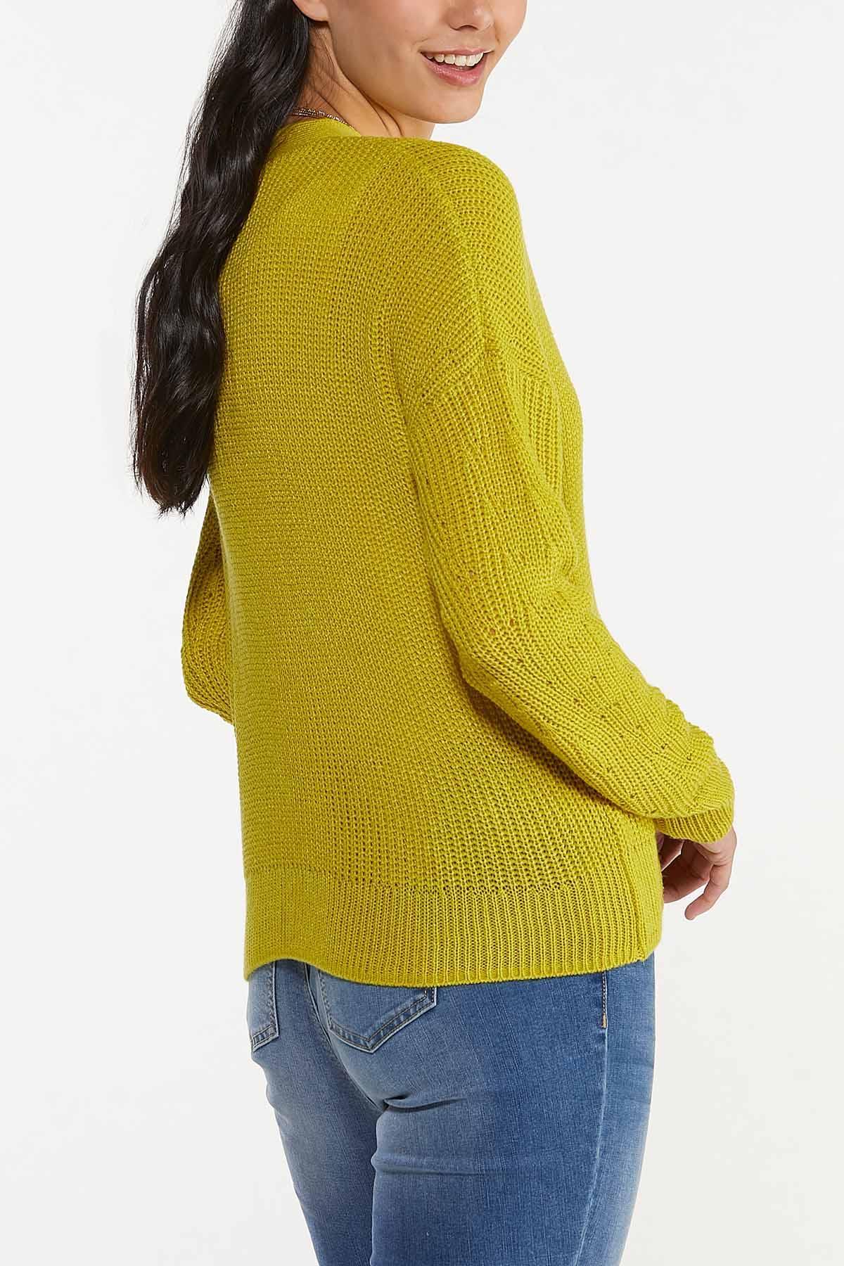 Plus Size Cutout Cardigan Sweater (Item #44660372)