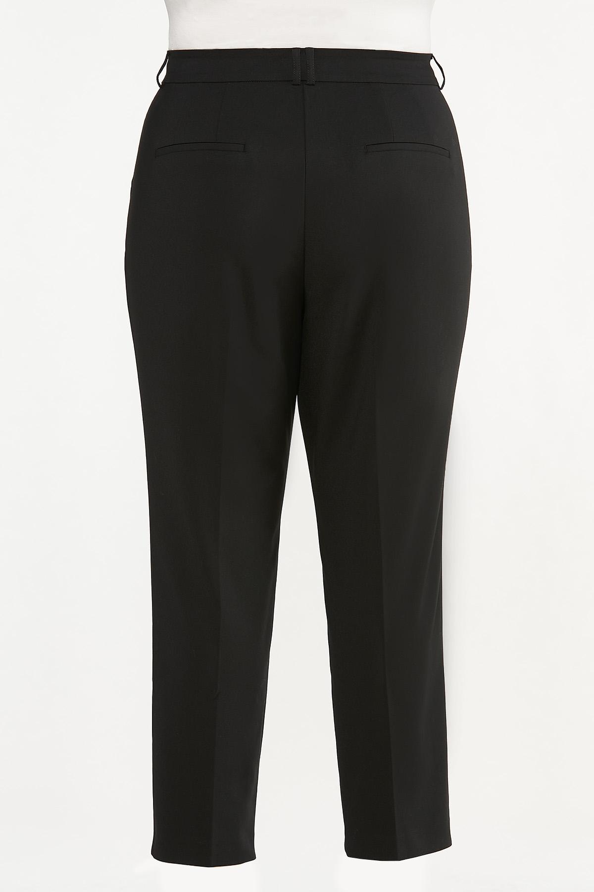 Plus Size Slim Trouser Pants (Item #44660707)