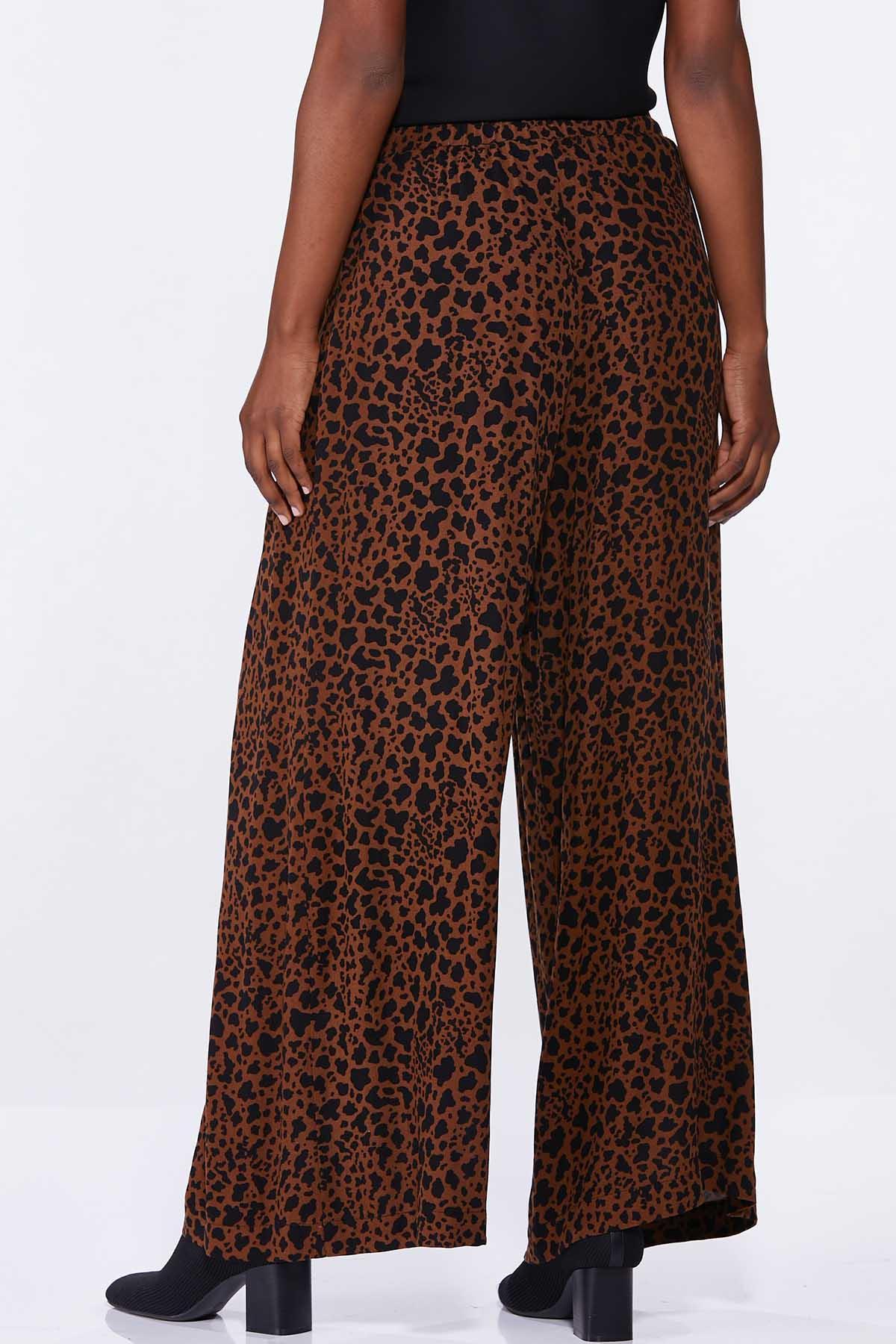 Leopard Wide Leg Pants (Item #44660773)