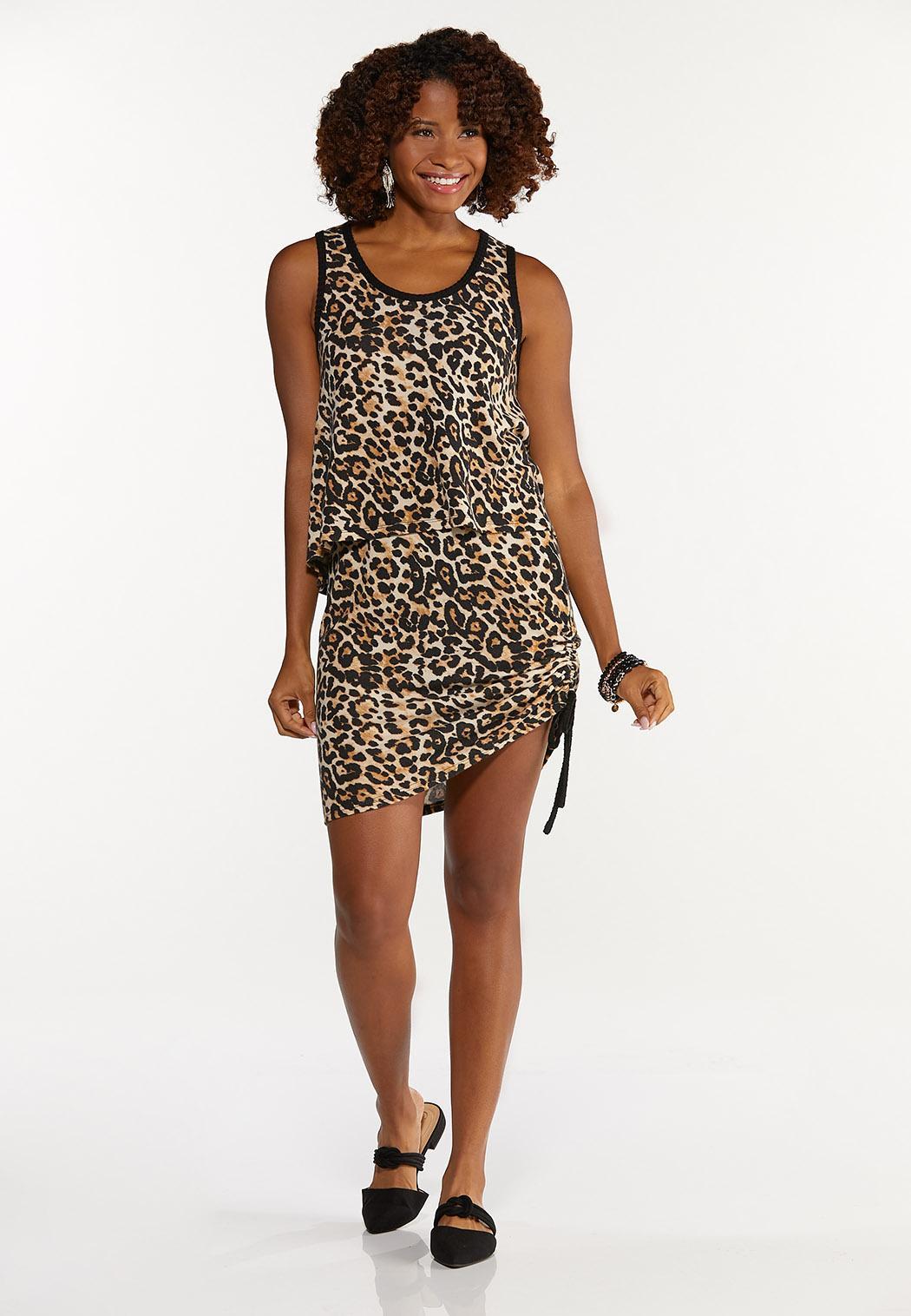 Leopard Drawstring Skirt (Item #44661126)