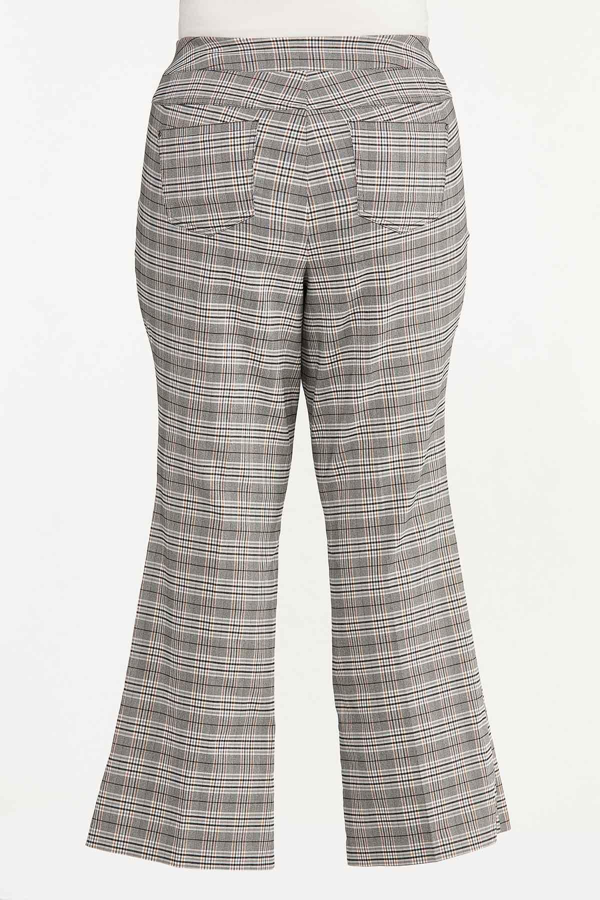 Plus Size Plaid Bengaline Pants (Item #44661197)