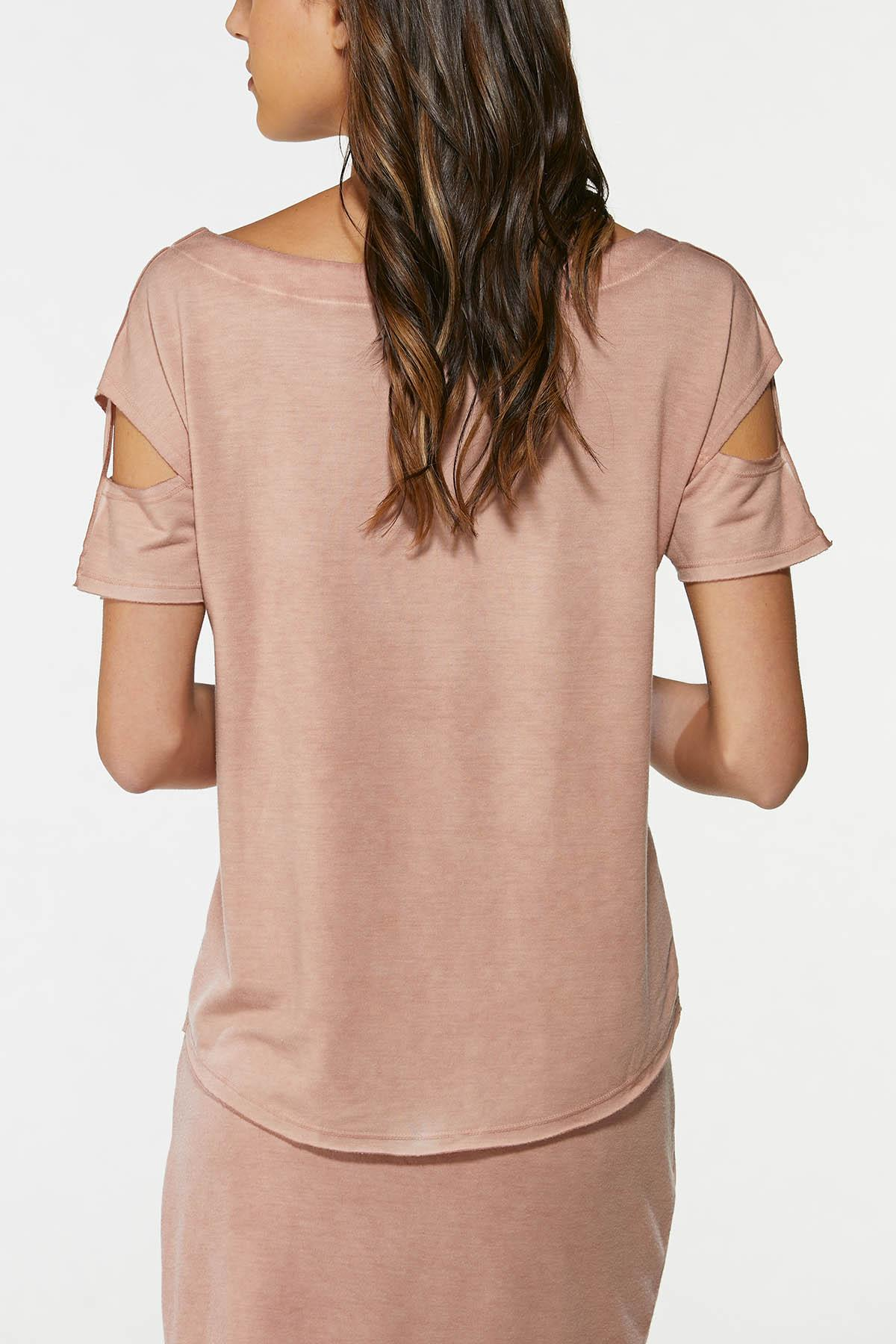 Slit Sleeve French Terry Top (Item #44661559)