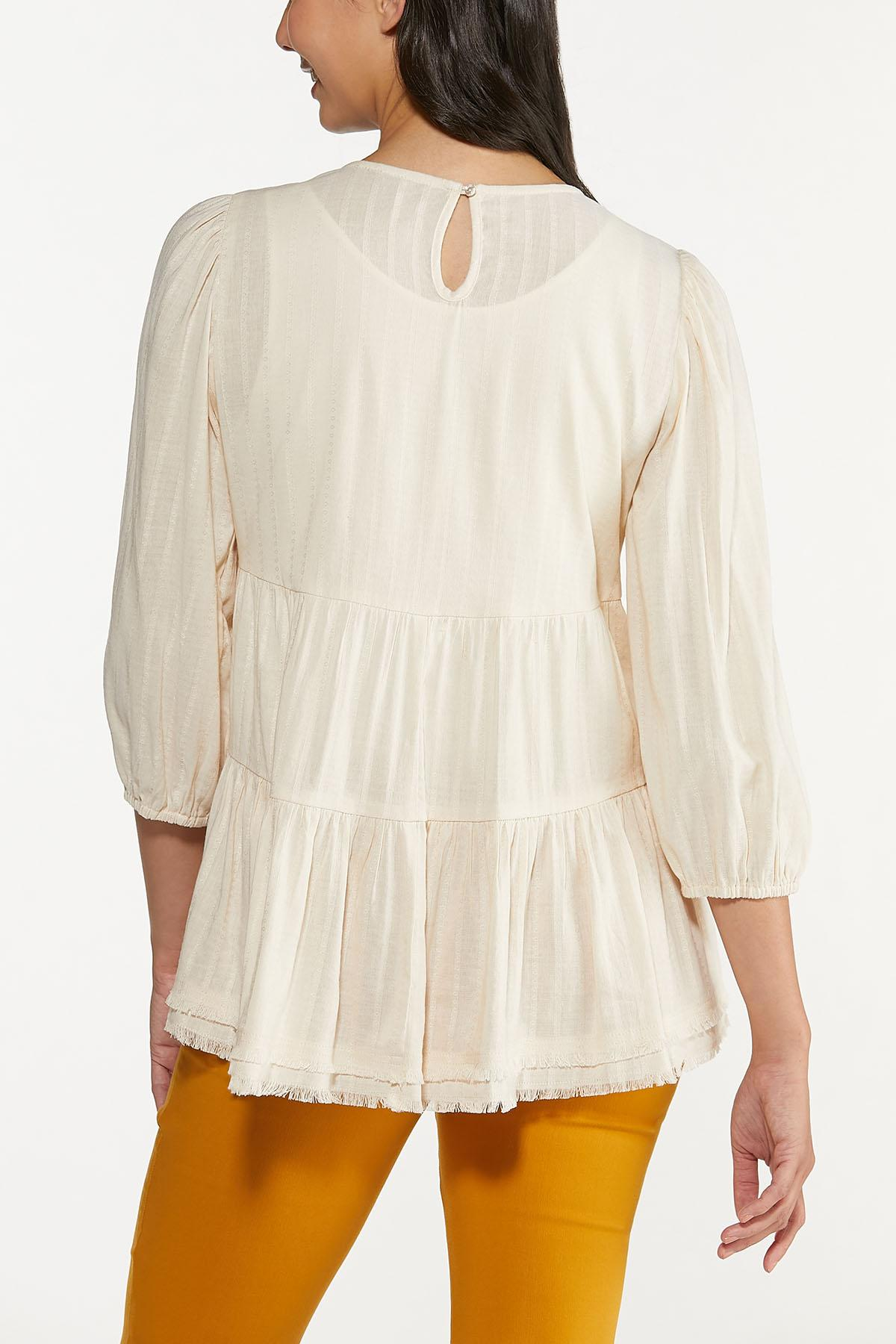 Plus Size Ivory Tiered Tunic (Item #44661611)