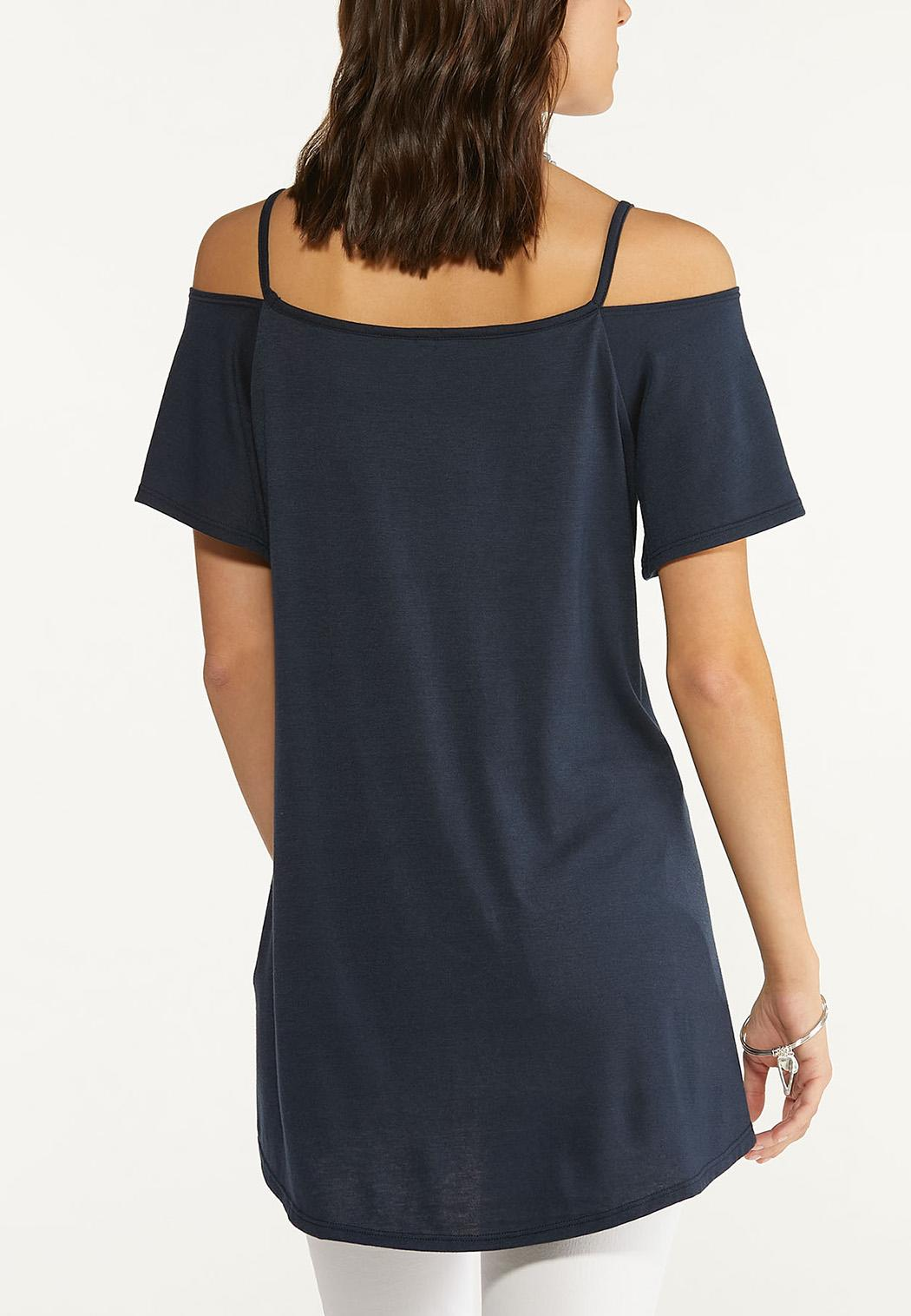 Casual Cold Shoulder Tunic (Item #44661757)