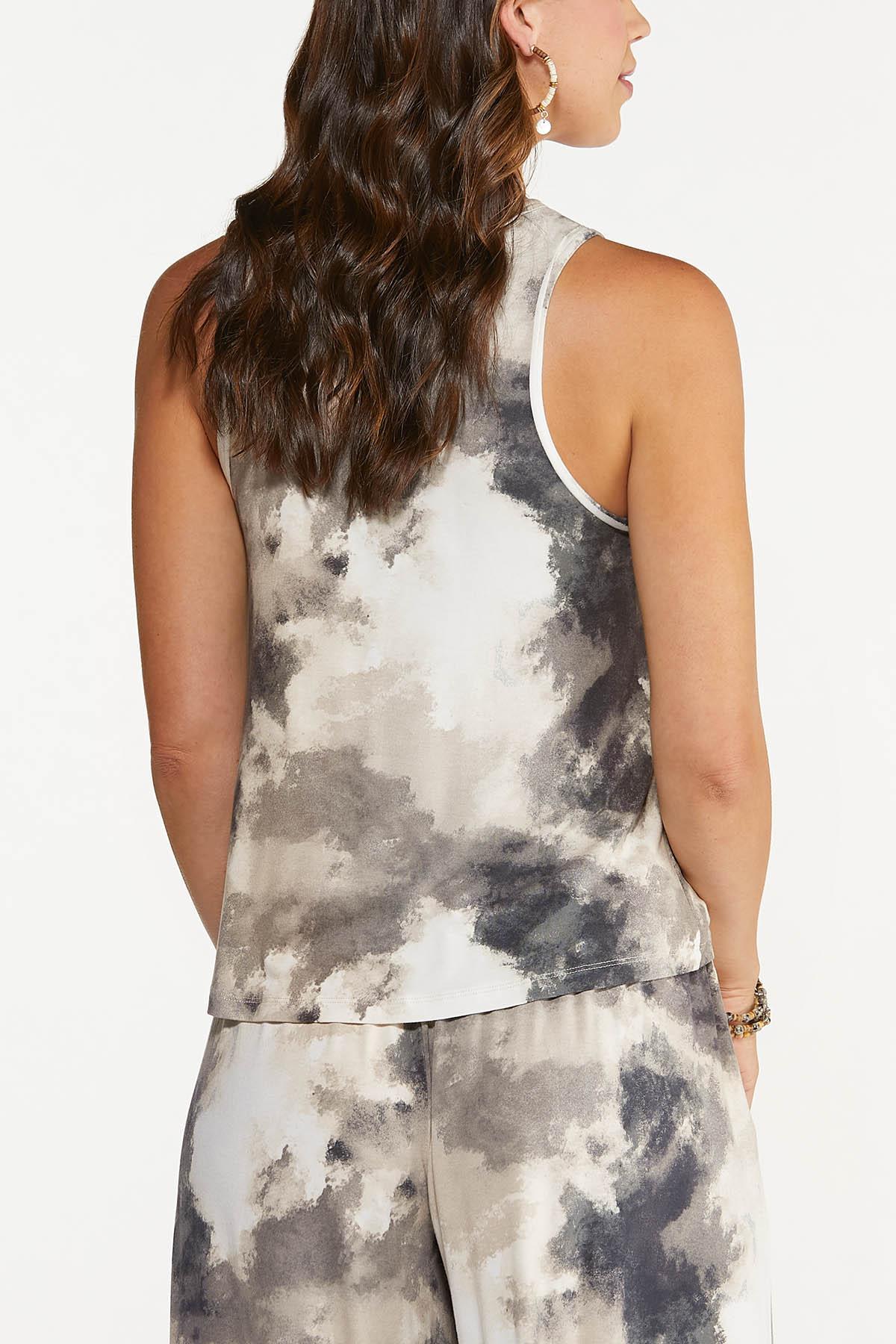 Black And White Tie Dye Tank (Item #44661827)