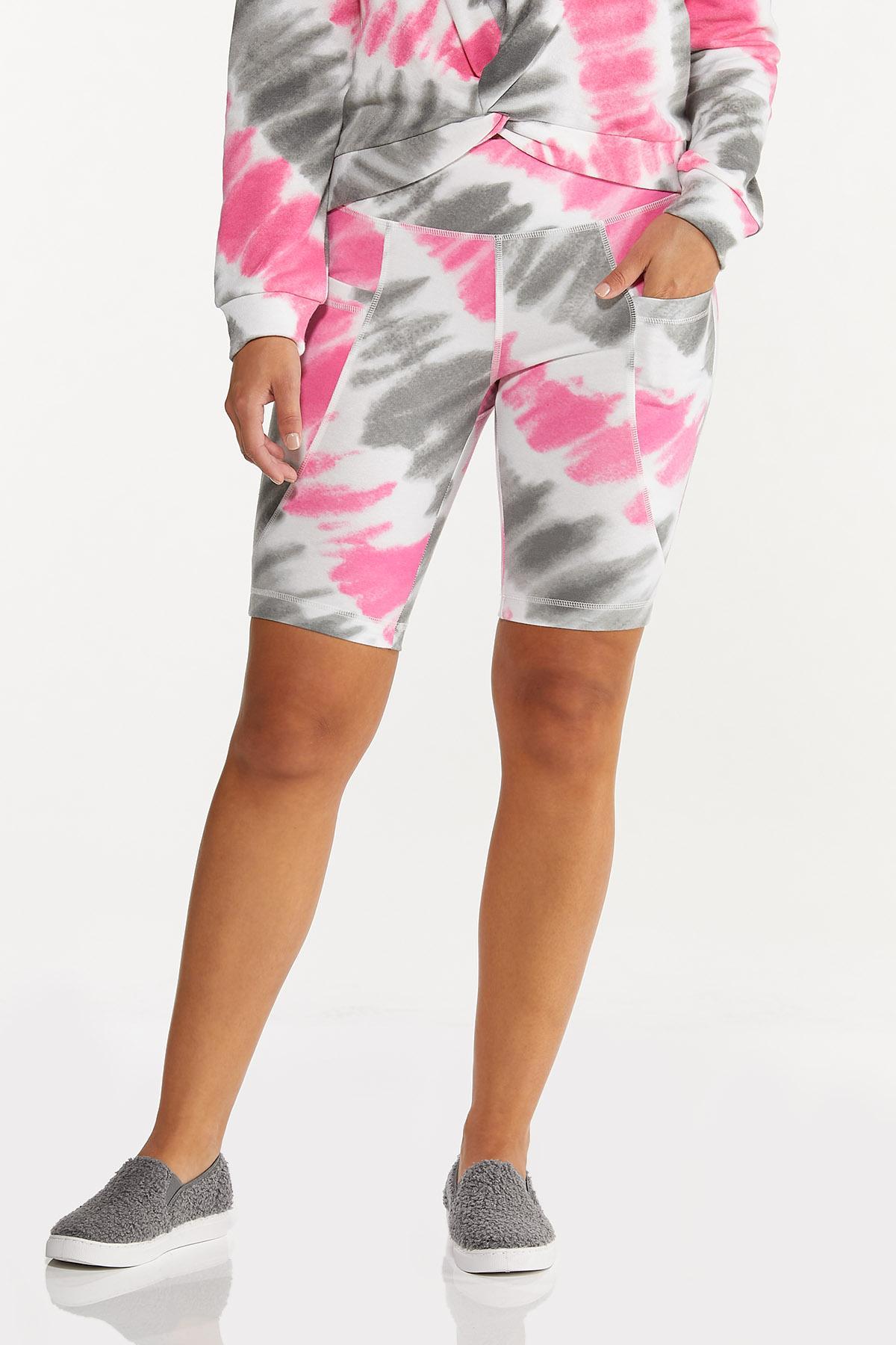 Pink Tie Dye Biker Shorts (Item #44661922)