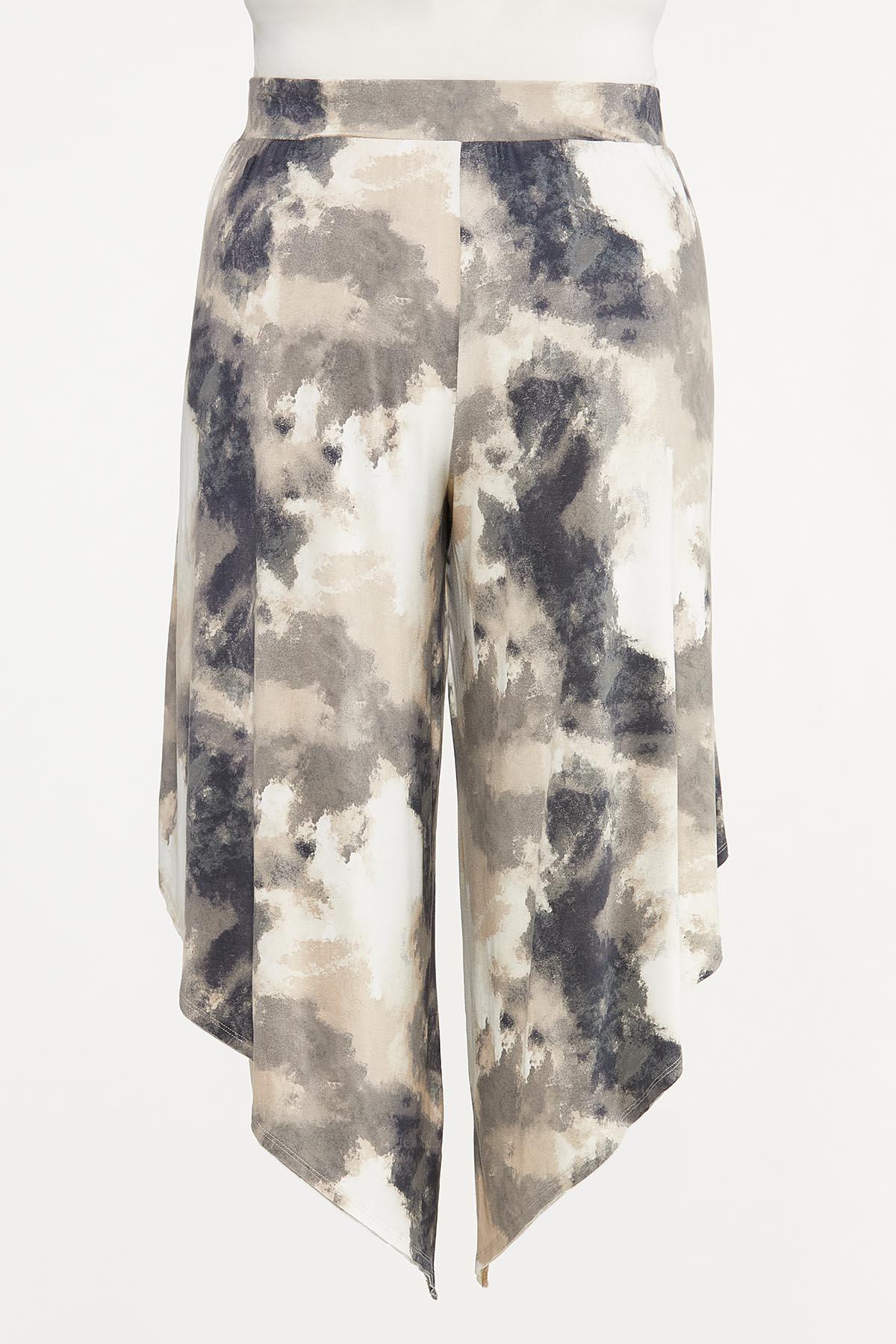 Plus Size Tie Dye Pull-On Genie Pants (Item #44661987)