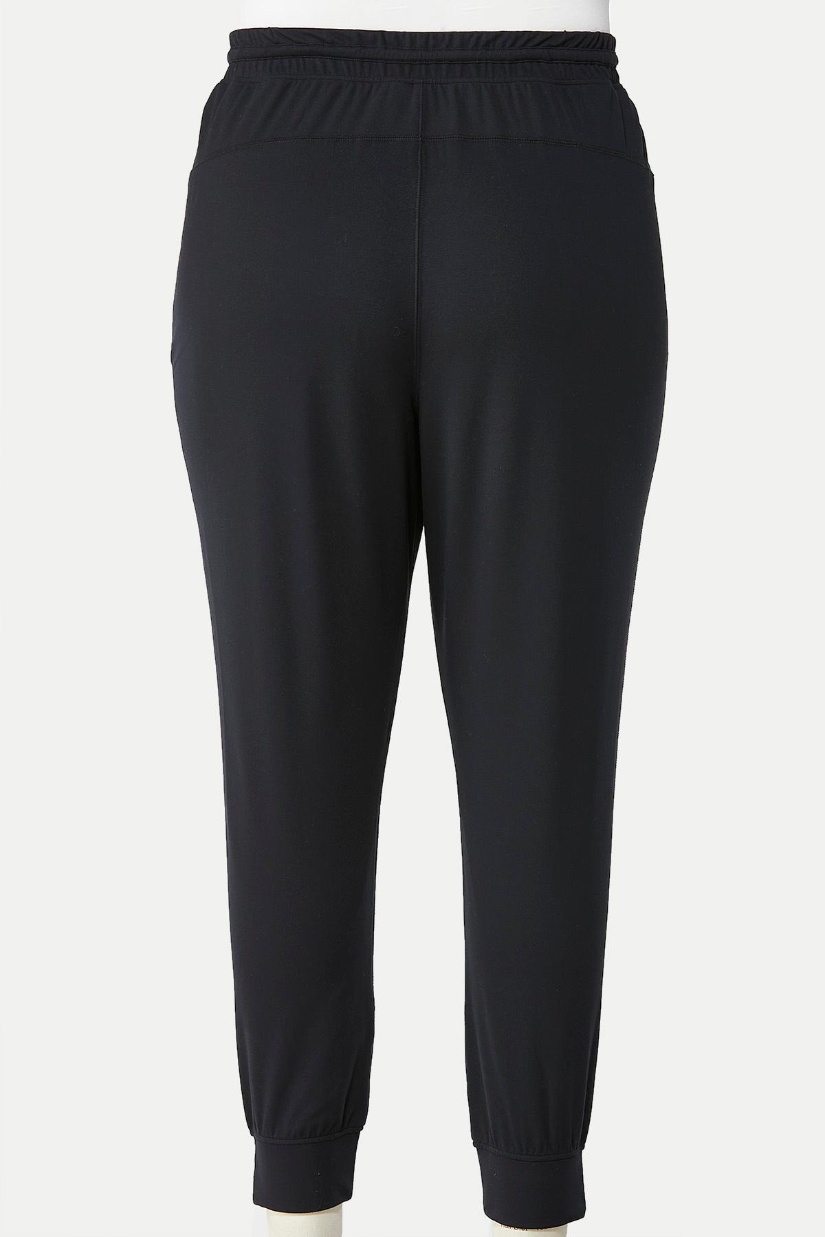 Plus Size Soft Drawstring Joggers (Item #44662023)