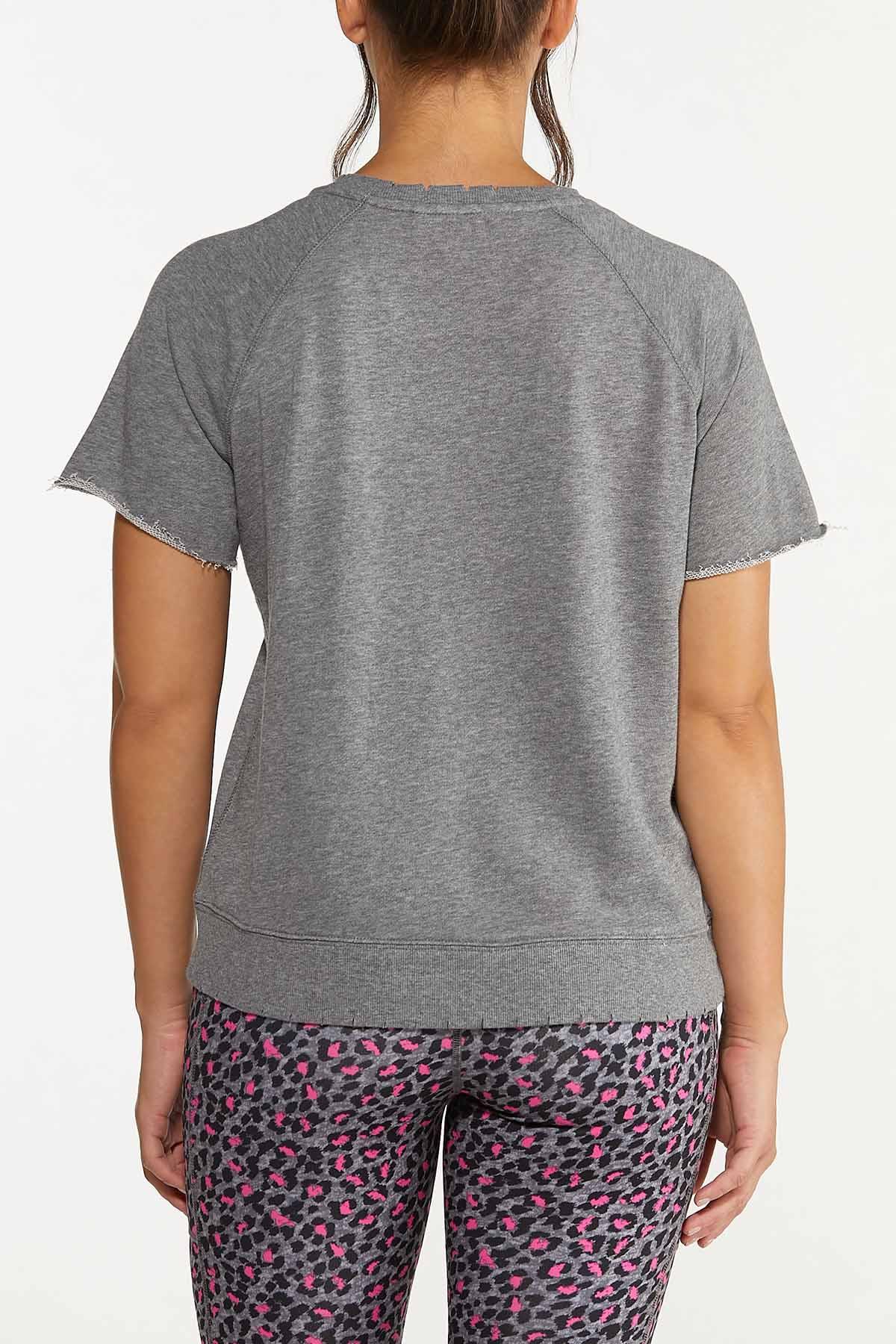 Plus Size Distressed Sweatshirt (Item #44662160)