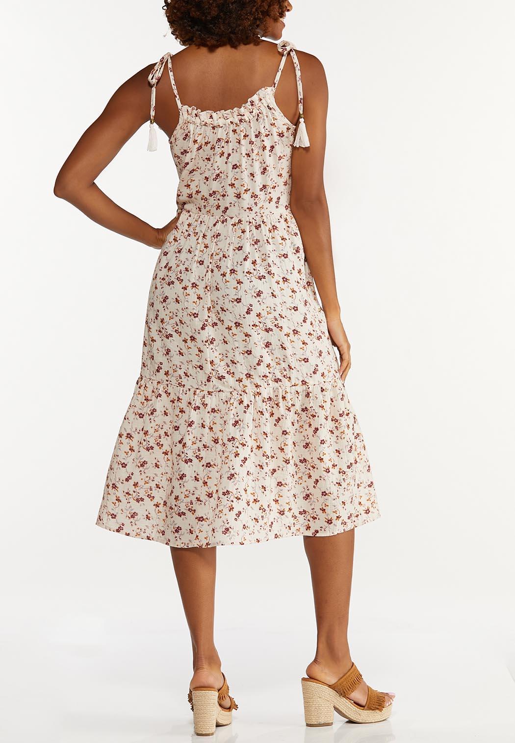 Floral Tasseled Tie Strap Dress (Item #44662273)