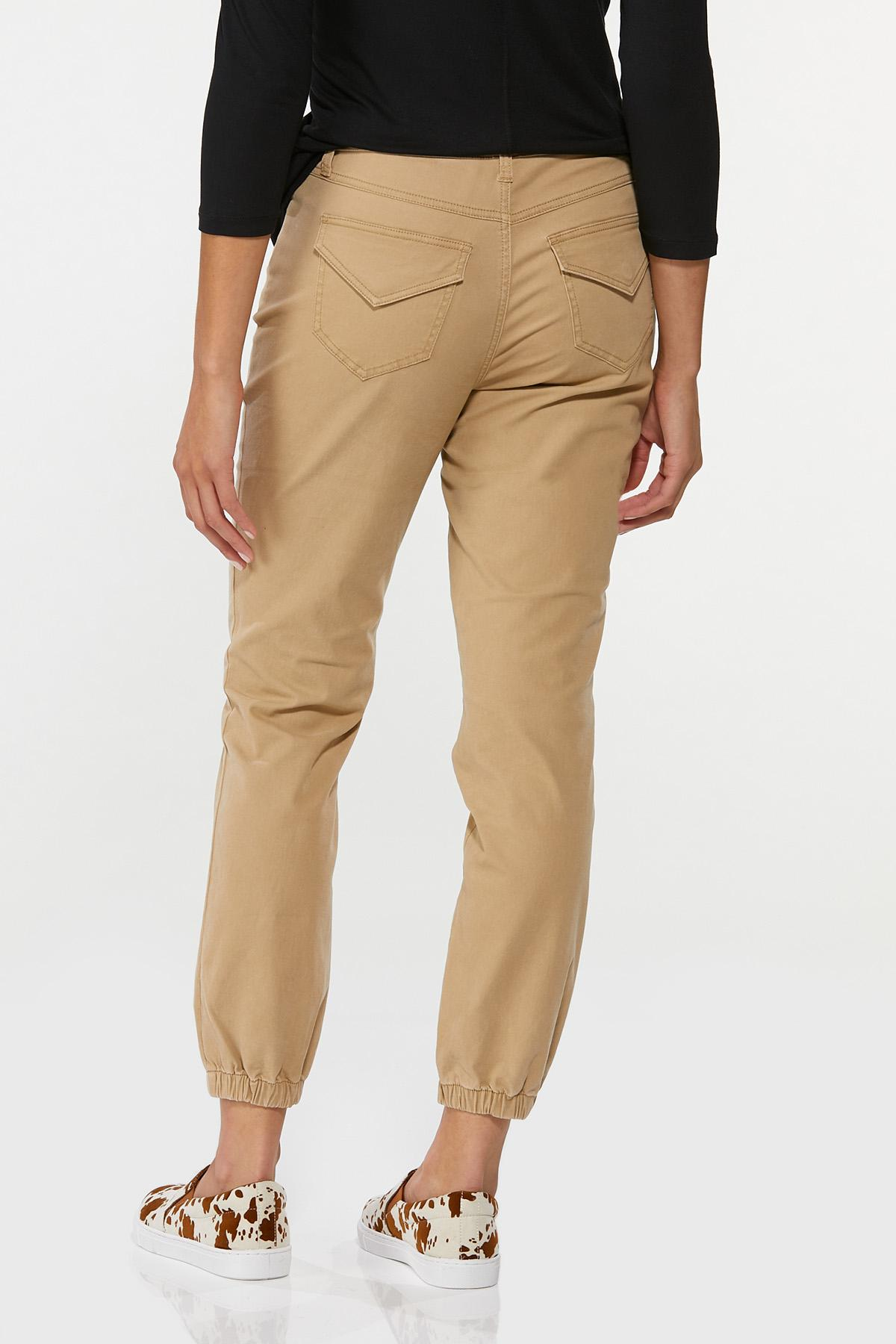Khaki Twill Joggers (Item #44662301)