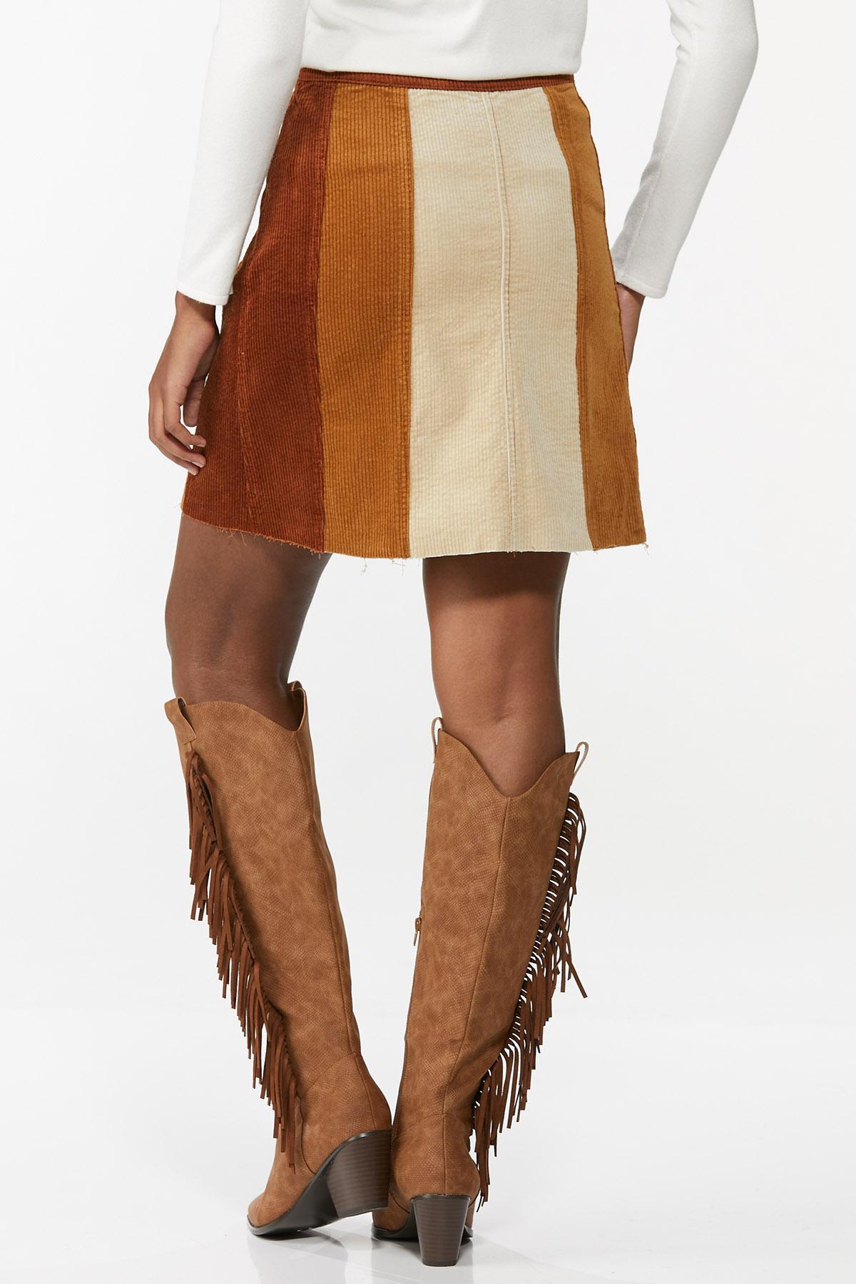 Colorblock Corduroy Mini Skirt (Item #44662433)