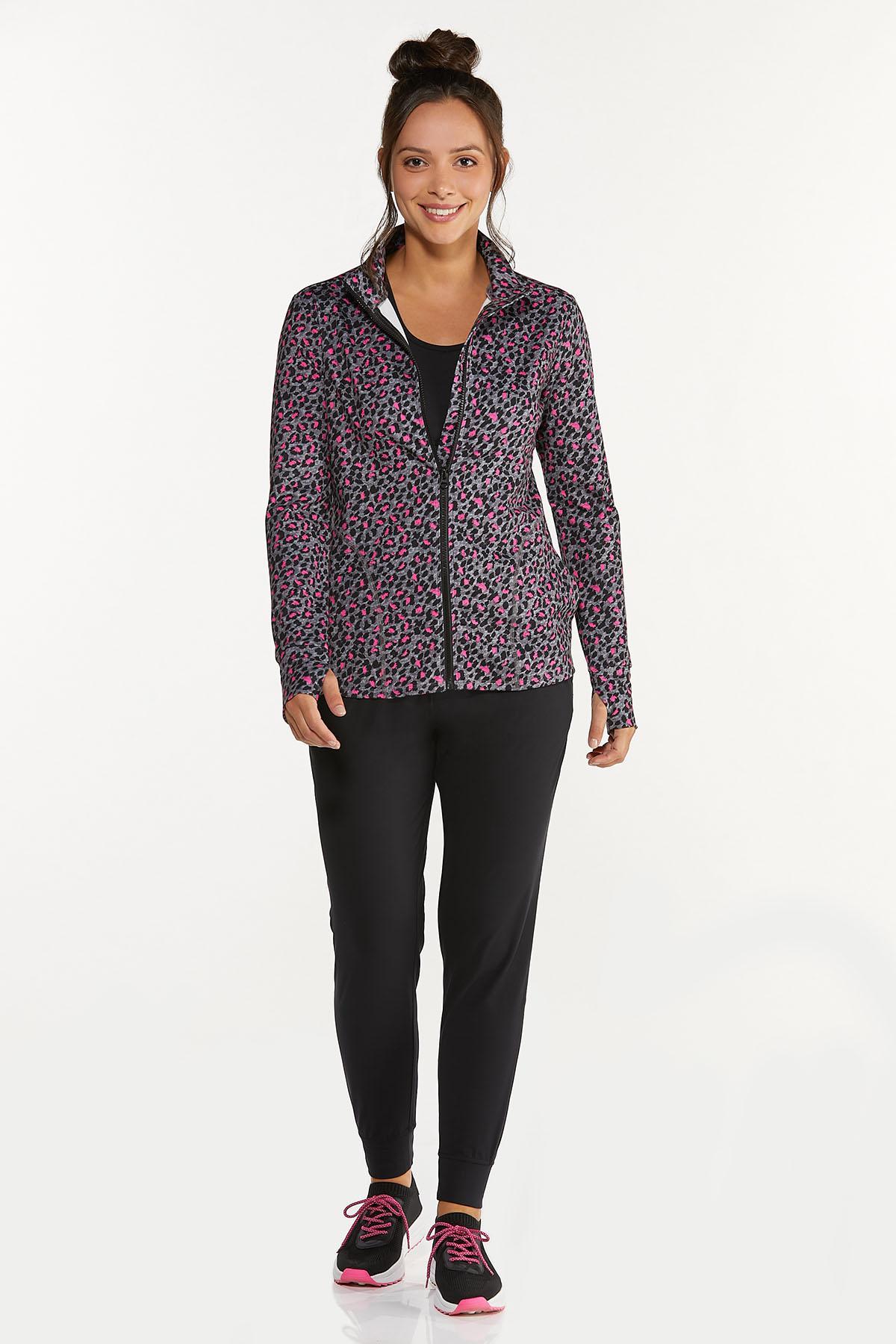 Plus Size Pink Leopard Sweatshirt (Item #44662767)