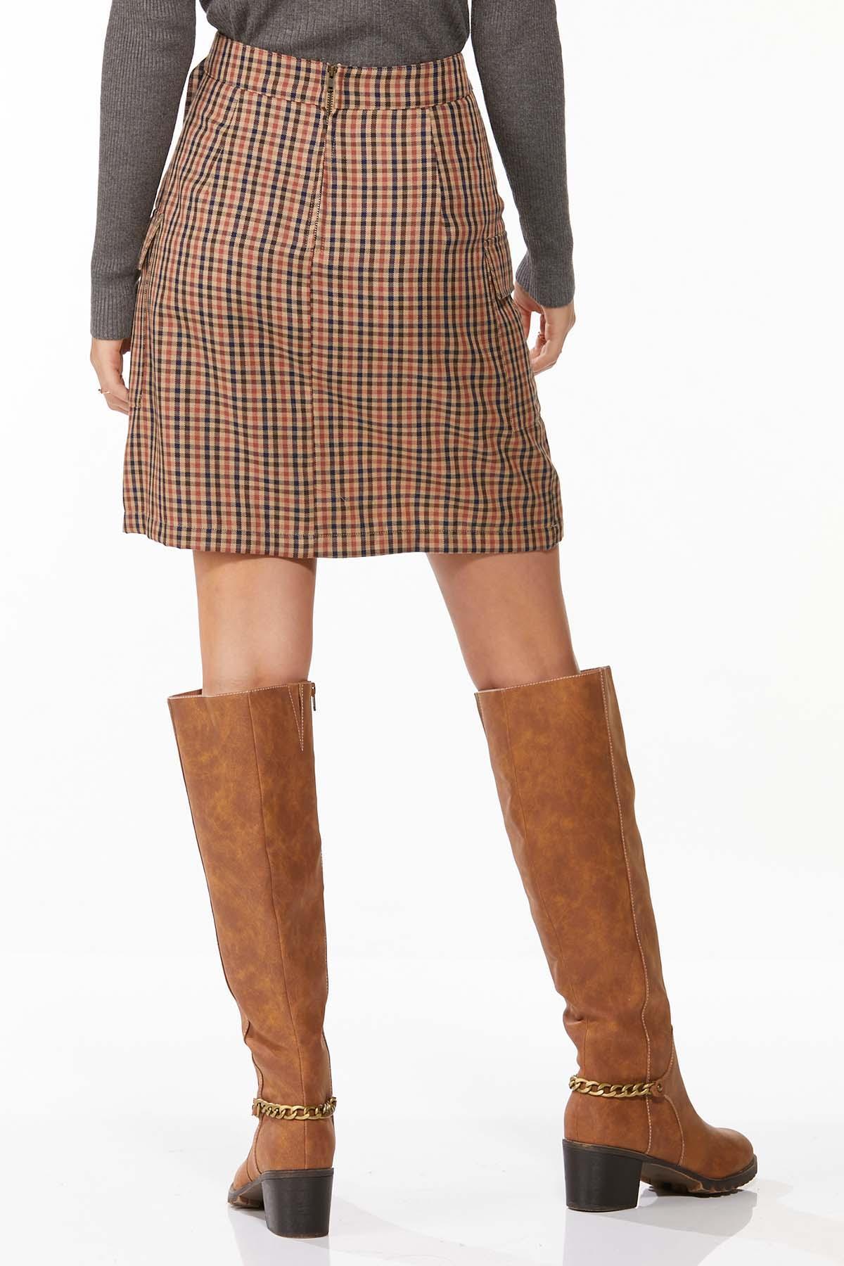 Plaid Wrap Mini Skirt (Item #44662768)