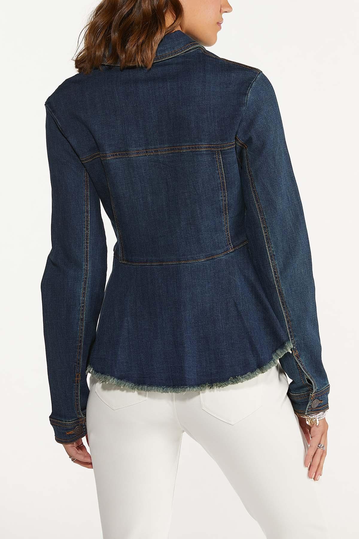 Denim Peplum Jacket (Item #44662925)