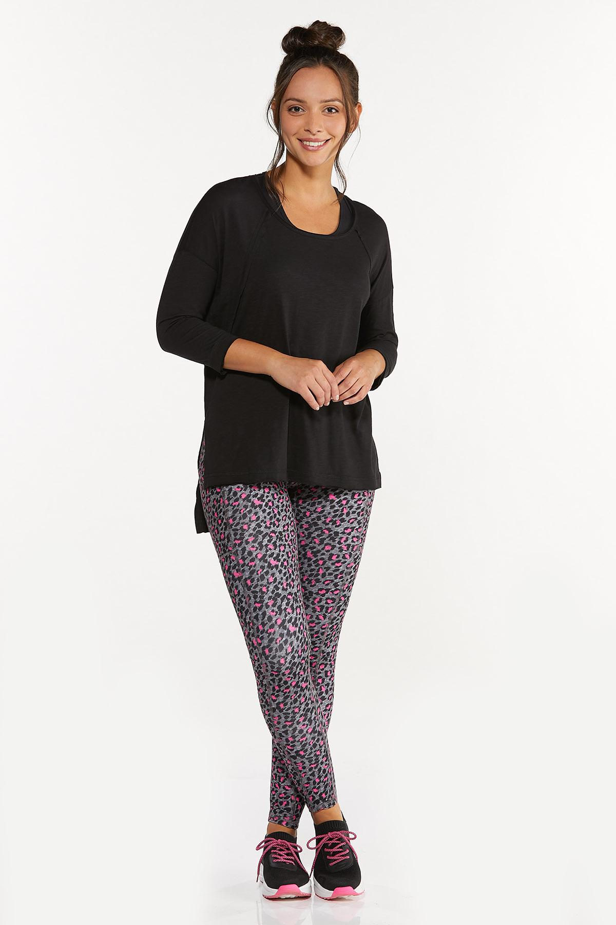 Plus Size Relaxed Raw Edge Top (Item #44662927)
