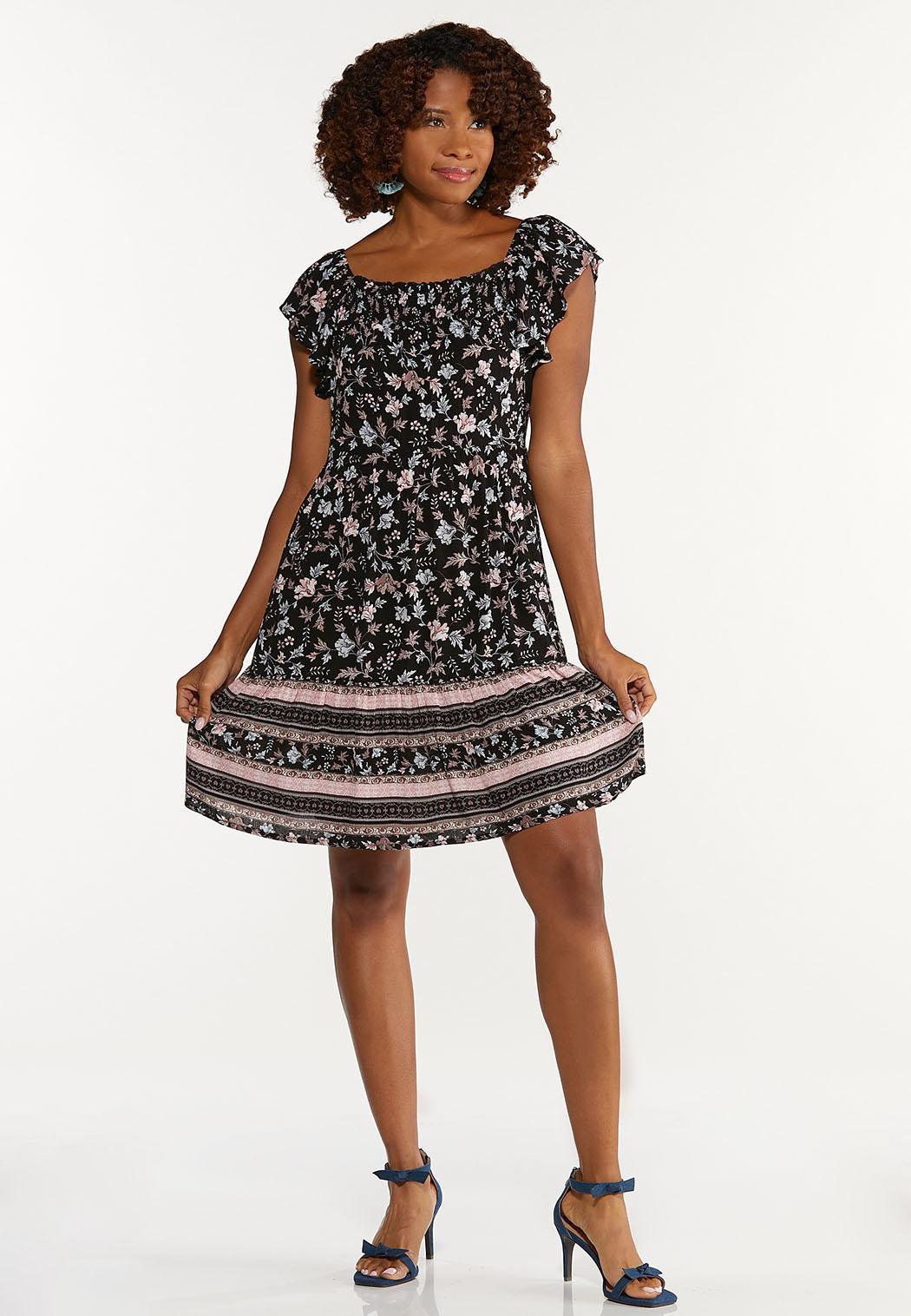 Plus Size Crepe Floral Dress (Item #44663605)