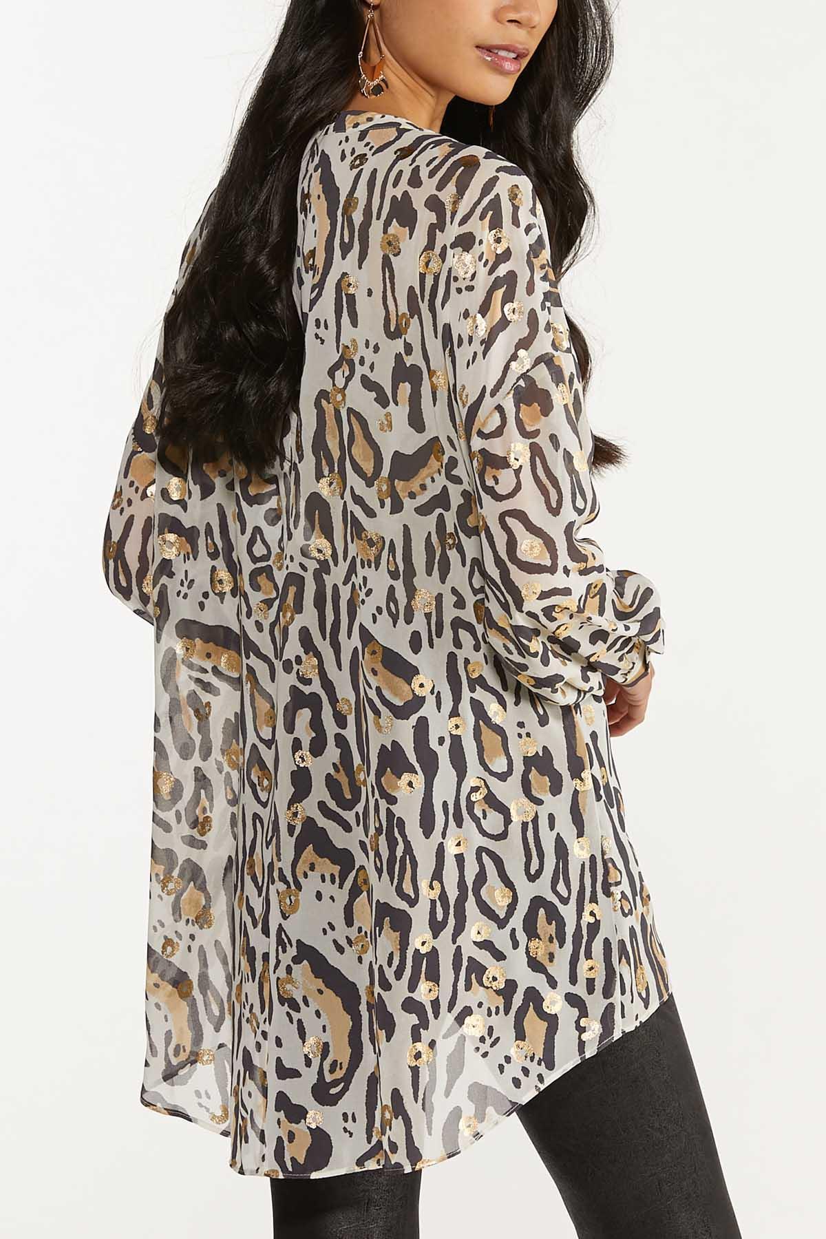 Plus Size Gilded Leopard Tunic (Item #44663789)