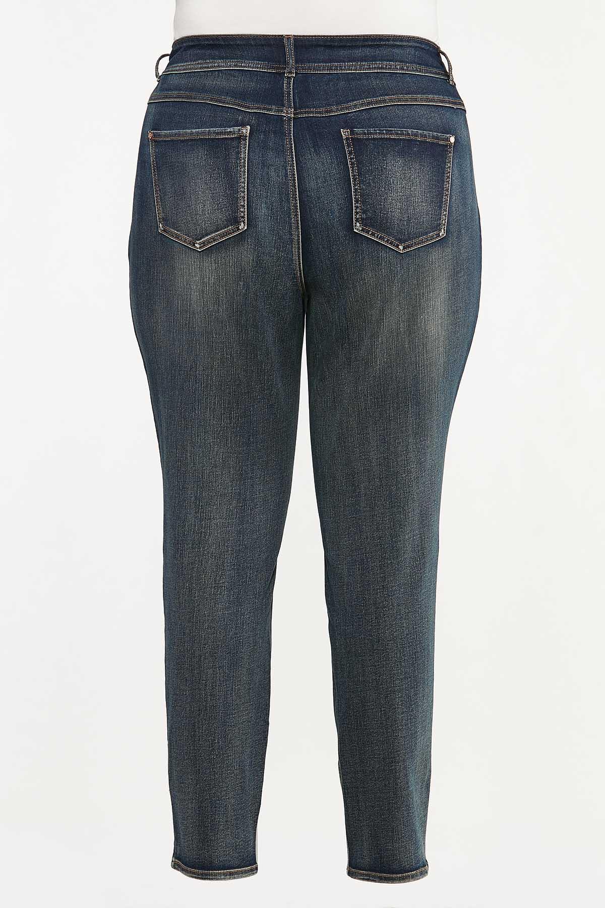 Plus Size Skinny Shape Enhancing Jeans (Item #44664542)