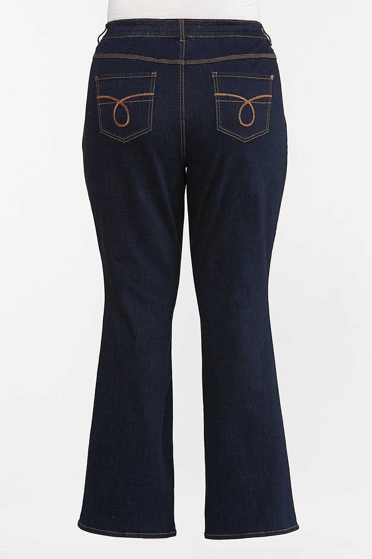 Plus Size Dark Bootcut Jeans (Item #44664770)