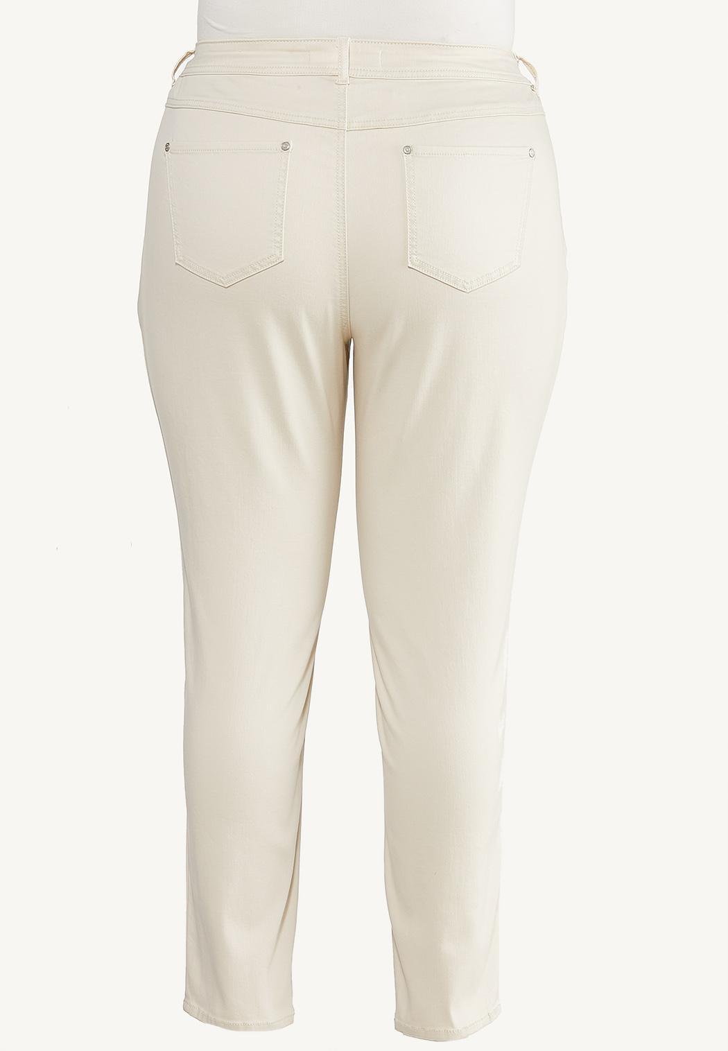Plus Size Neutral Skinny Jeans (Item #44664942)