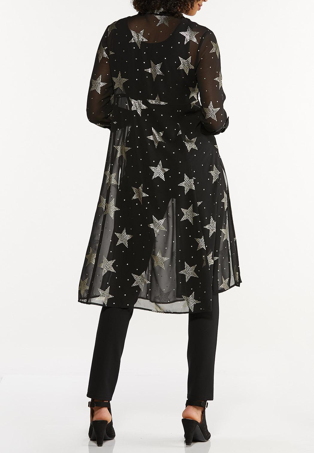 Plus Size Sheer Star Kimono (Item #44665226)