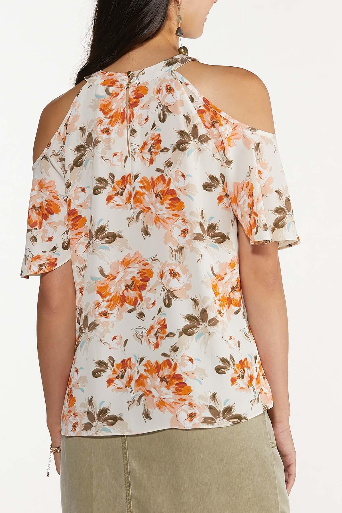 Floral Flutter Sleeve Top (Item #44665349)