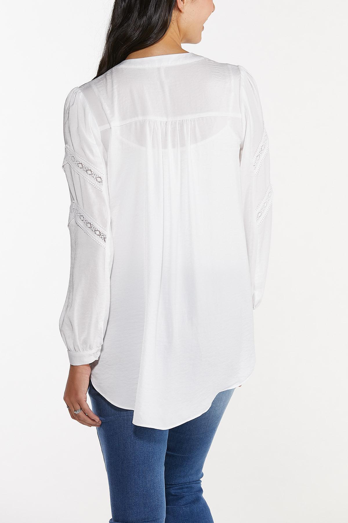 Plus Size Lace Trim Tunic (Item #44665438)