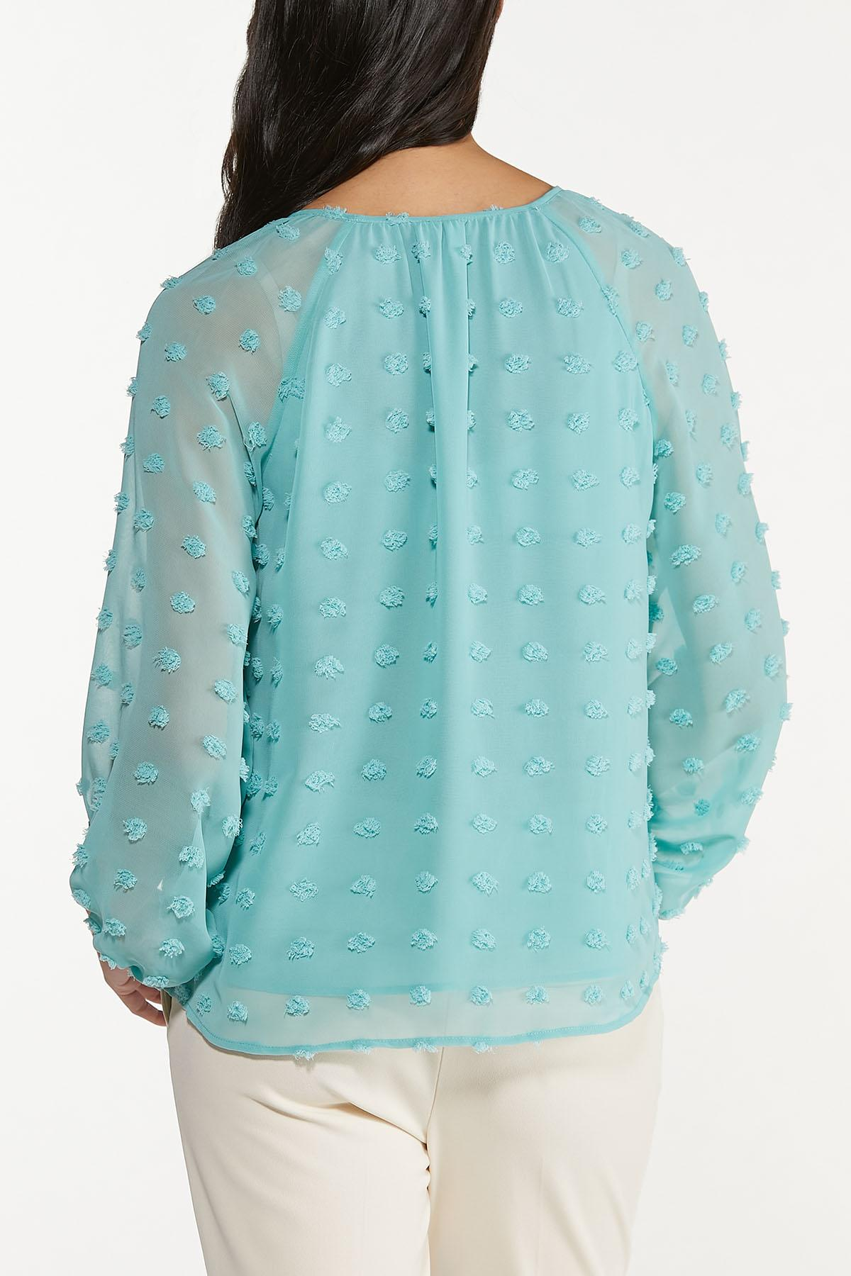 Plus Size Sky Textured Pullover Top (Item #44665783)