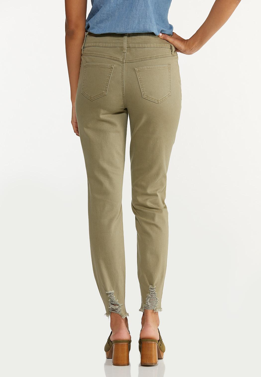 Frayed Olive Pants (Item #44666522)
