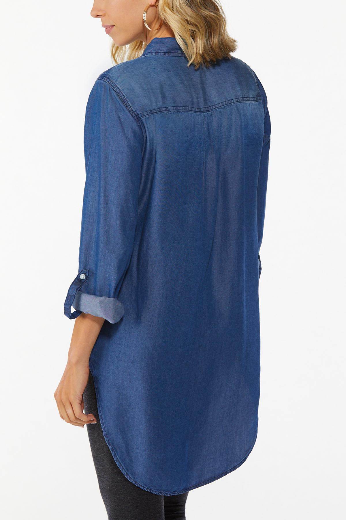 Dark Wash Denim Shirt (Item #44666975)