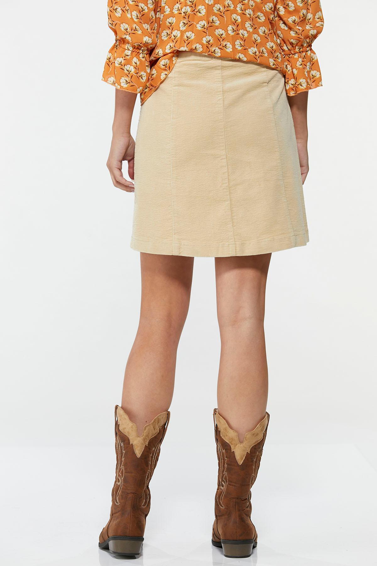 Khaki Corduroy Skirt (Item #44667056)