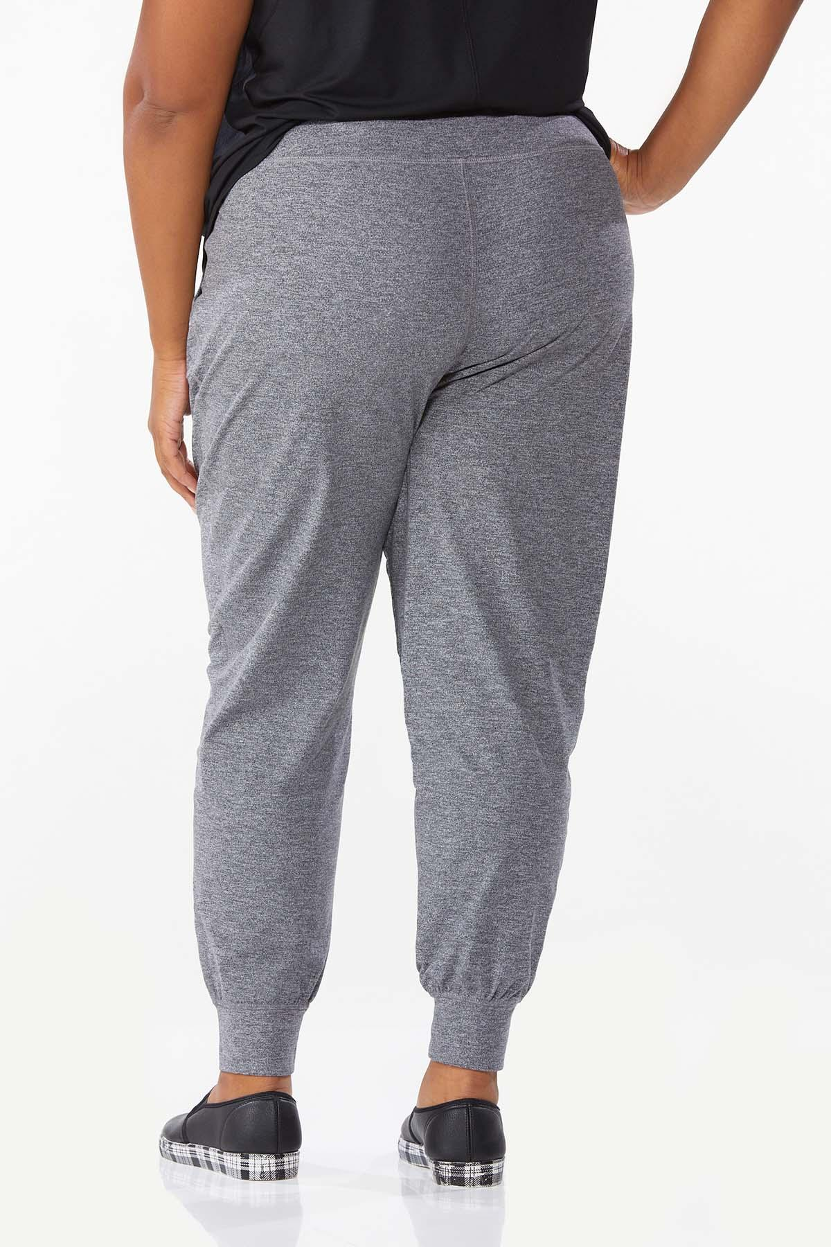 Plus Size Solid Stretch Joggers (Item #44668284)