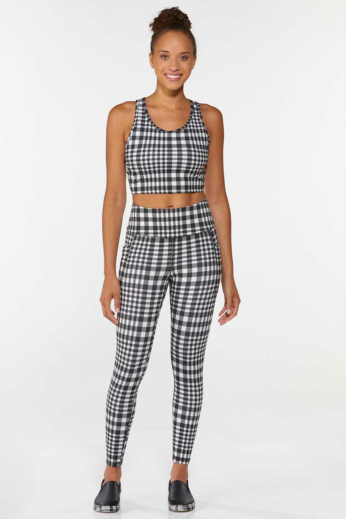 Checkered Sports Bra (Item #44668380)