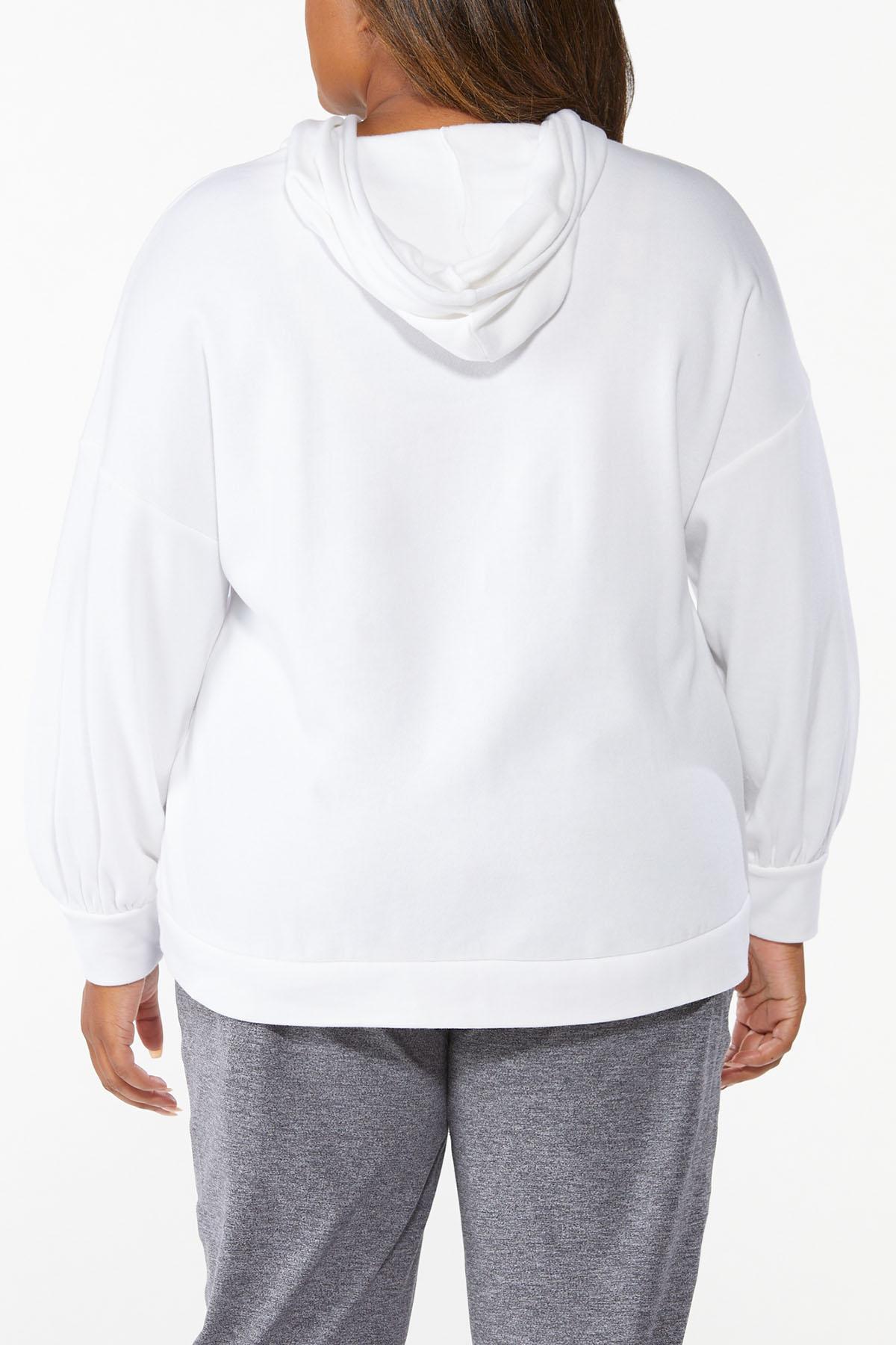 Plus Size Cutout Fleece Hoodie (Item #44668452)