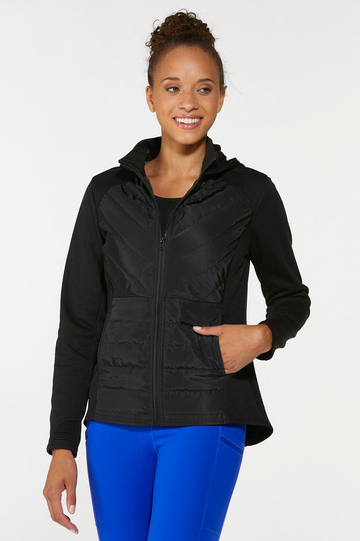 Plus Size Quilted Active Jacket (Item #44668470)