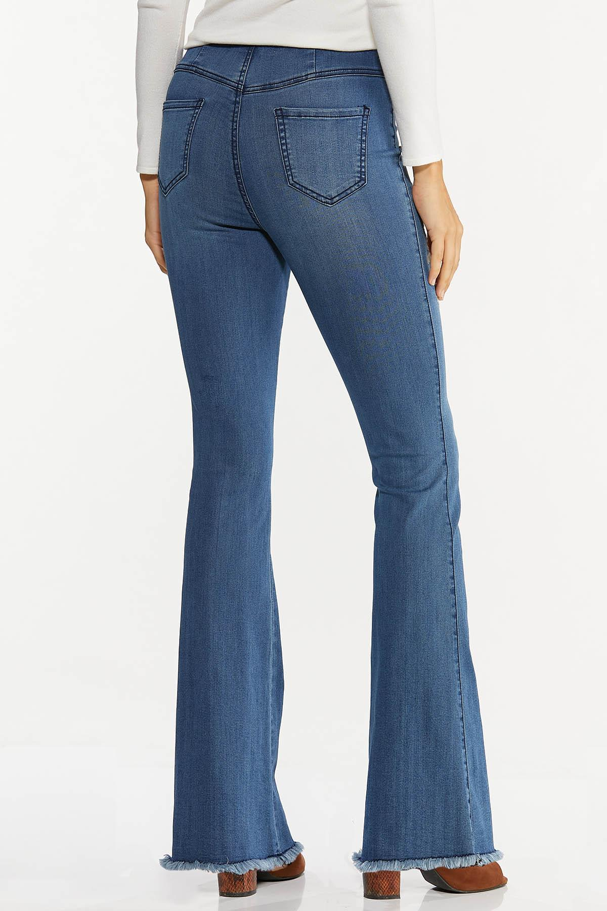 Petite Floral Embroidered Flare Jeans (Item #44669249)