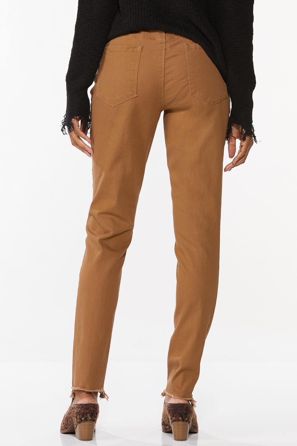 Distressed Brown Skinny Jeans (Item #44671458)