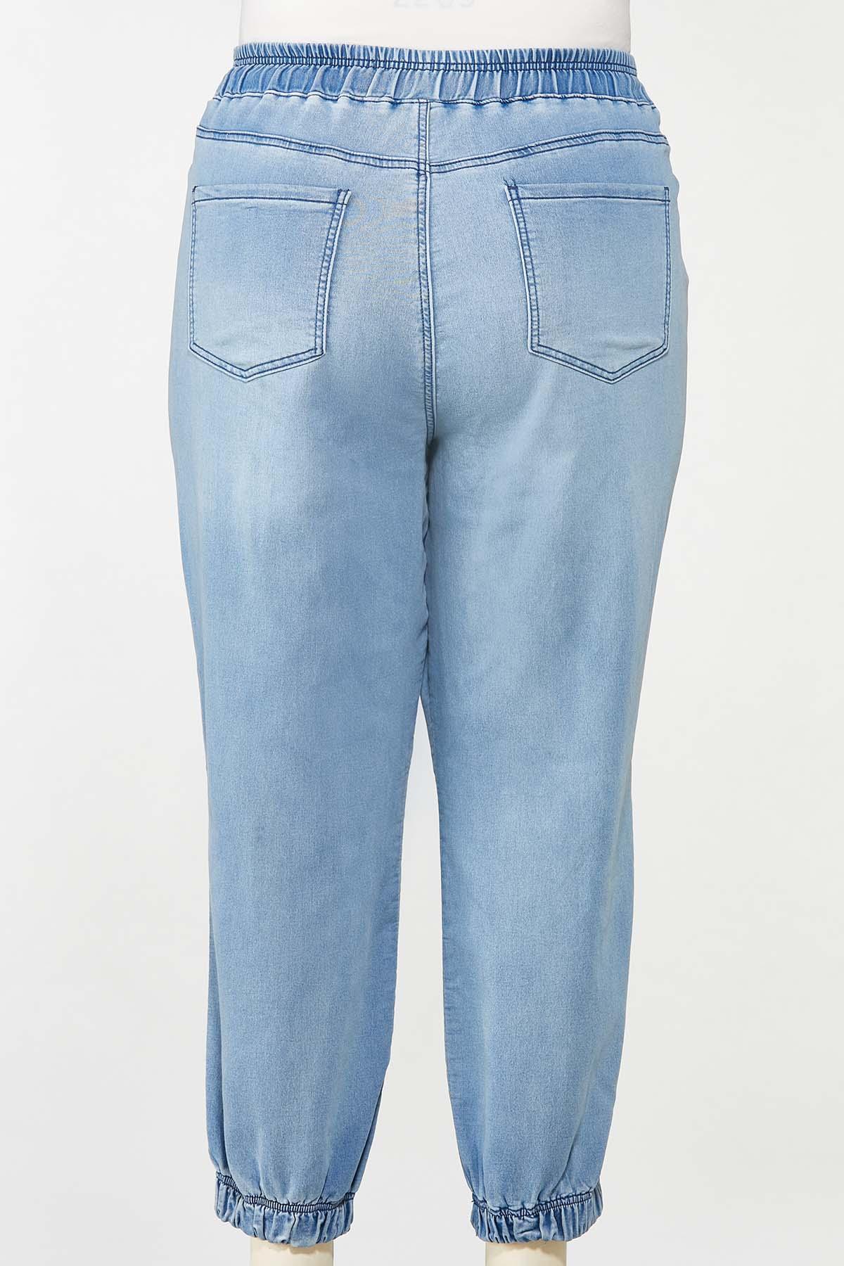 Plus Size Denim Joggers (Item #44671521)